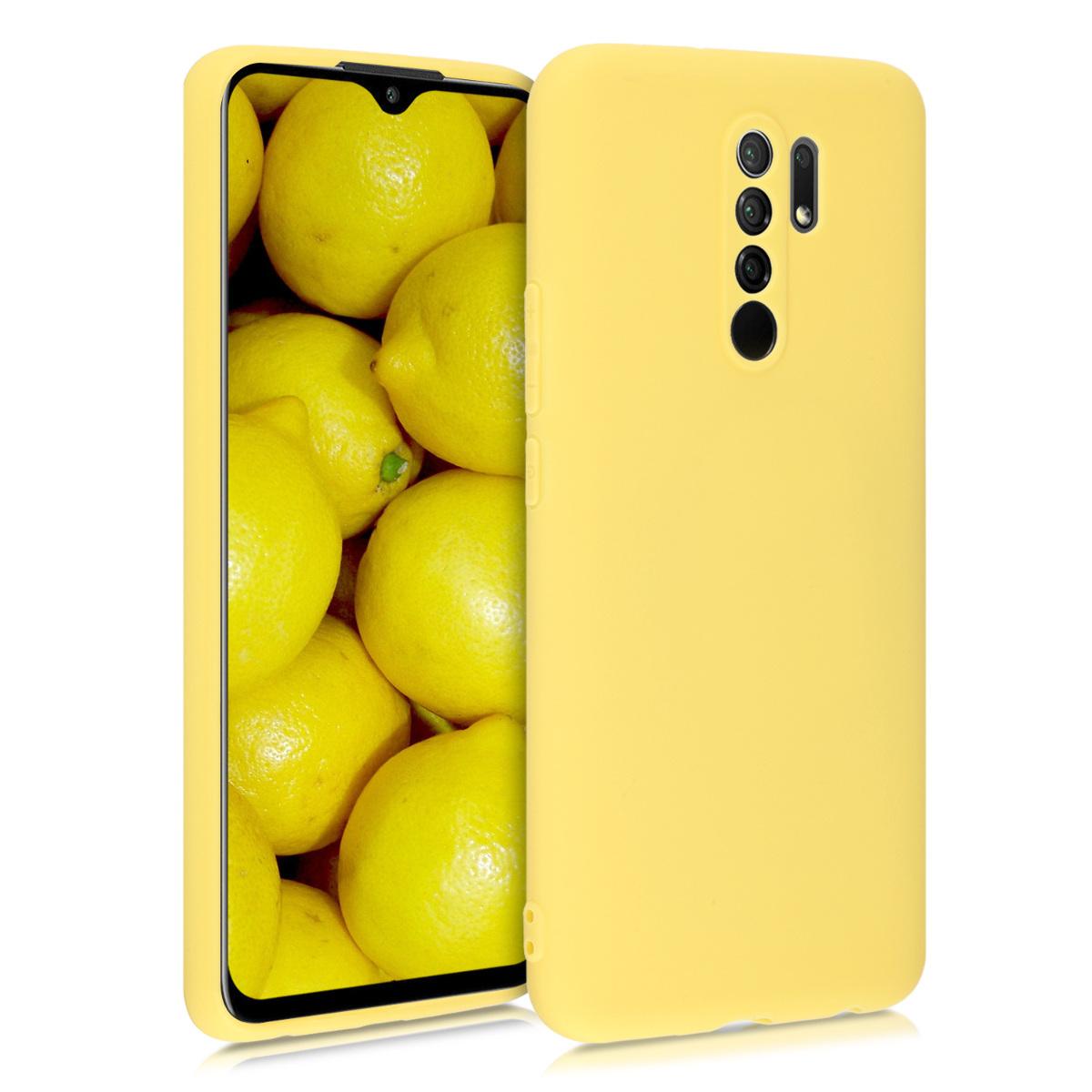 Kvalitní silikonové TPU pouzdro | obal pro Xiaomi Redmi 9 - žluté matný