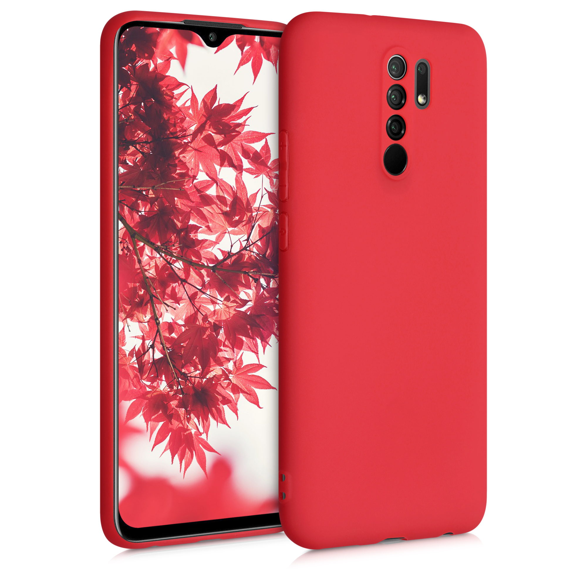 Kvalitní silikonové TPU pouzdro | obal pro Xiaomi Redmi 9 - červený matný