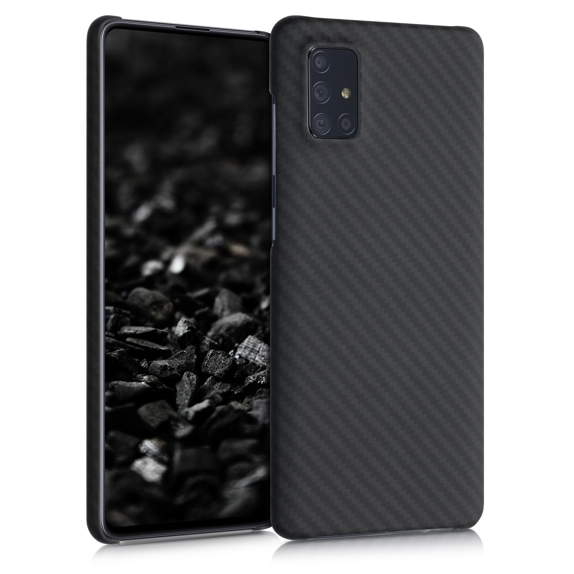 Aramidpouzdro pro Samsung A71 - černé matné