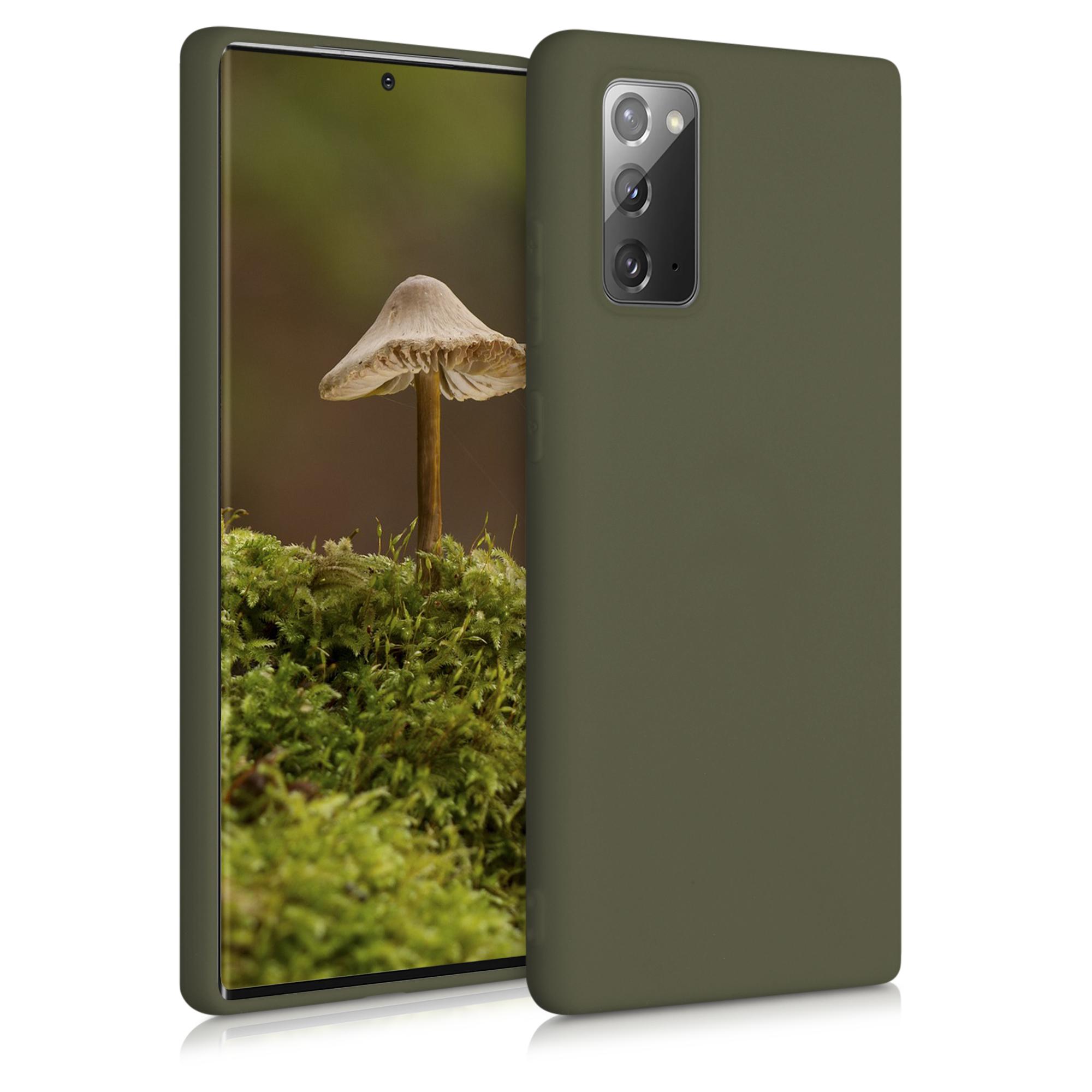 Kvalitní silikonové TPU pouzdro pro Samsung Note 20 - tmavé Olive