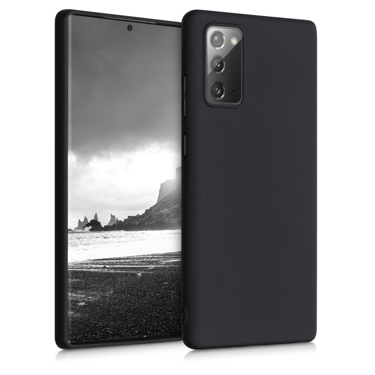 Kvalitní silikonové TPU pouzdro pro Samsung Note 20 - Black Matte