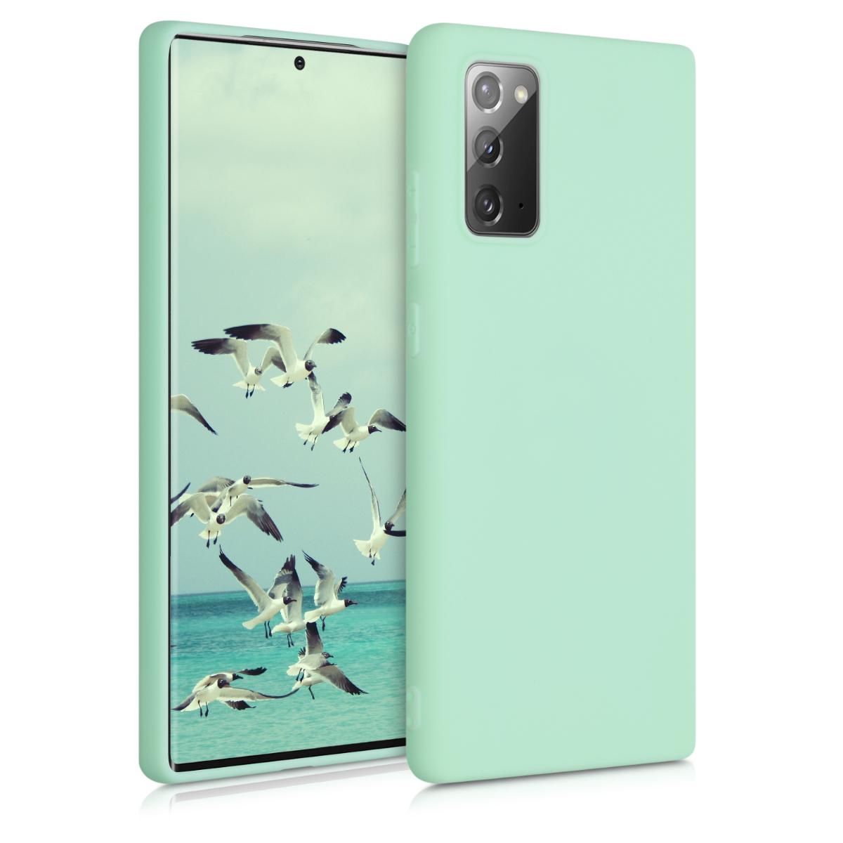 Kvalitní silikonové TPU pouzdro pro Samsung Note 20 - Mint Matte