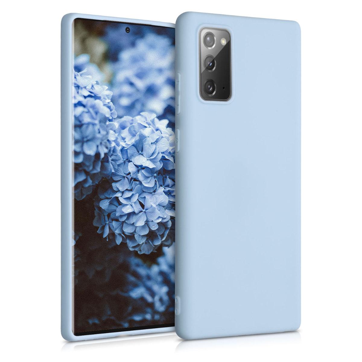 Kvalitní silikonové TPU pouzdro pro Samsung Note 20 - Light Blue Matte