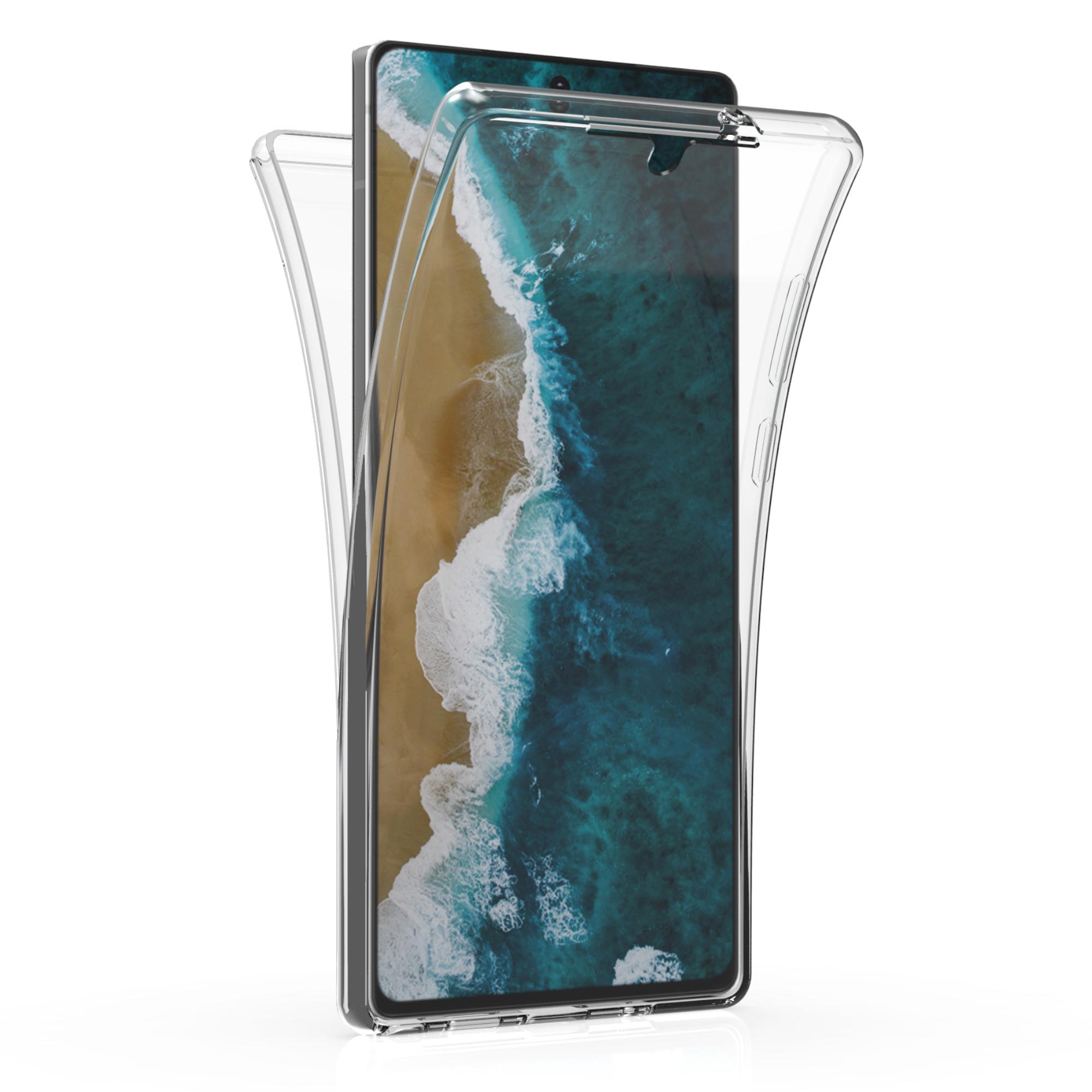 Kvalitní silikonové TPU pouzdro pro Samsung Note 20 - Průhledný
