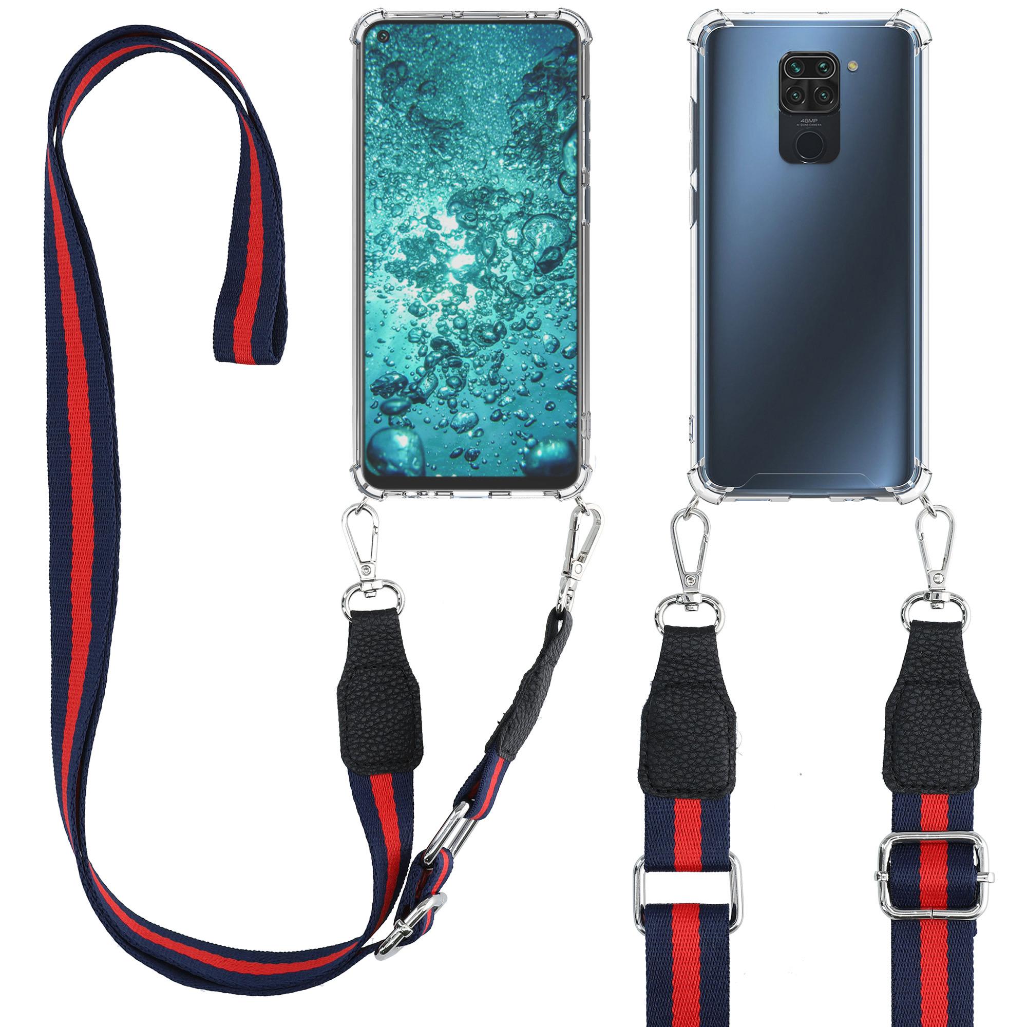 Kvalitní silikonové TPU pouzdro | obal pro Xiaomi Redmi Note 9 - tmavě Blue / červený