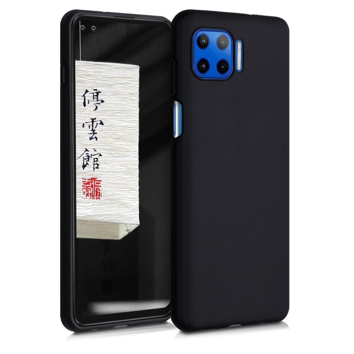 Kvalitní silikonové TPU pouzdro   obal pro Motorola Moto G 5G Plus - Černá matná