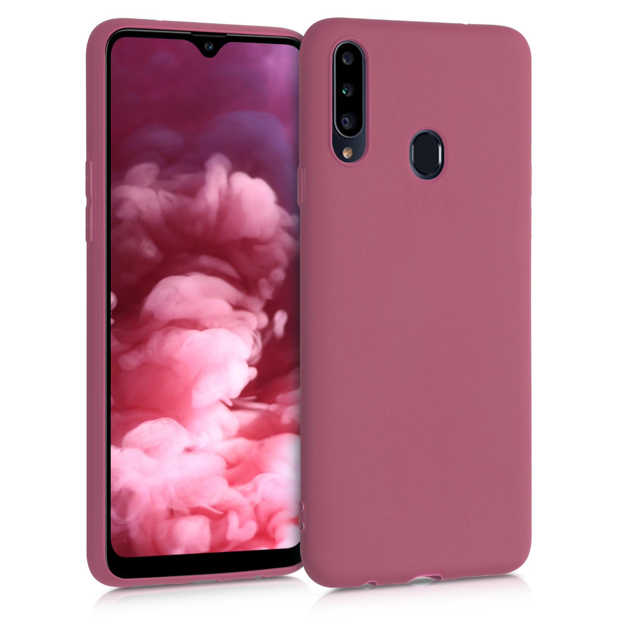 Kvalitní silikonové TPU pouzdro pro Samsung A20s - Hluboké Rusty Rose