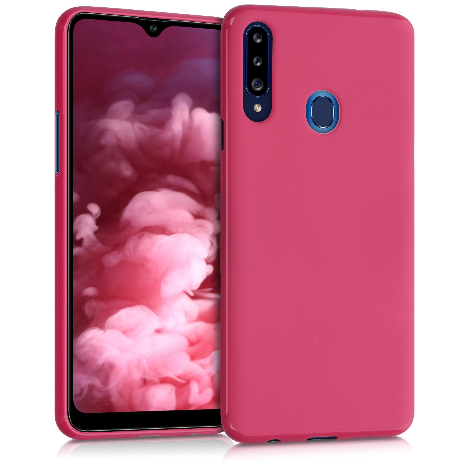 Kvalitní silikonové TPU pouzdro pro Samsung A20s - Pomegranate Red