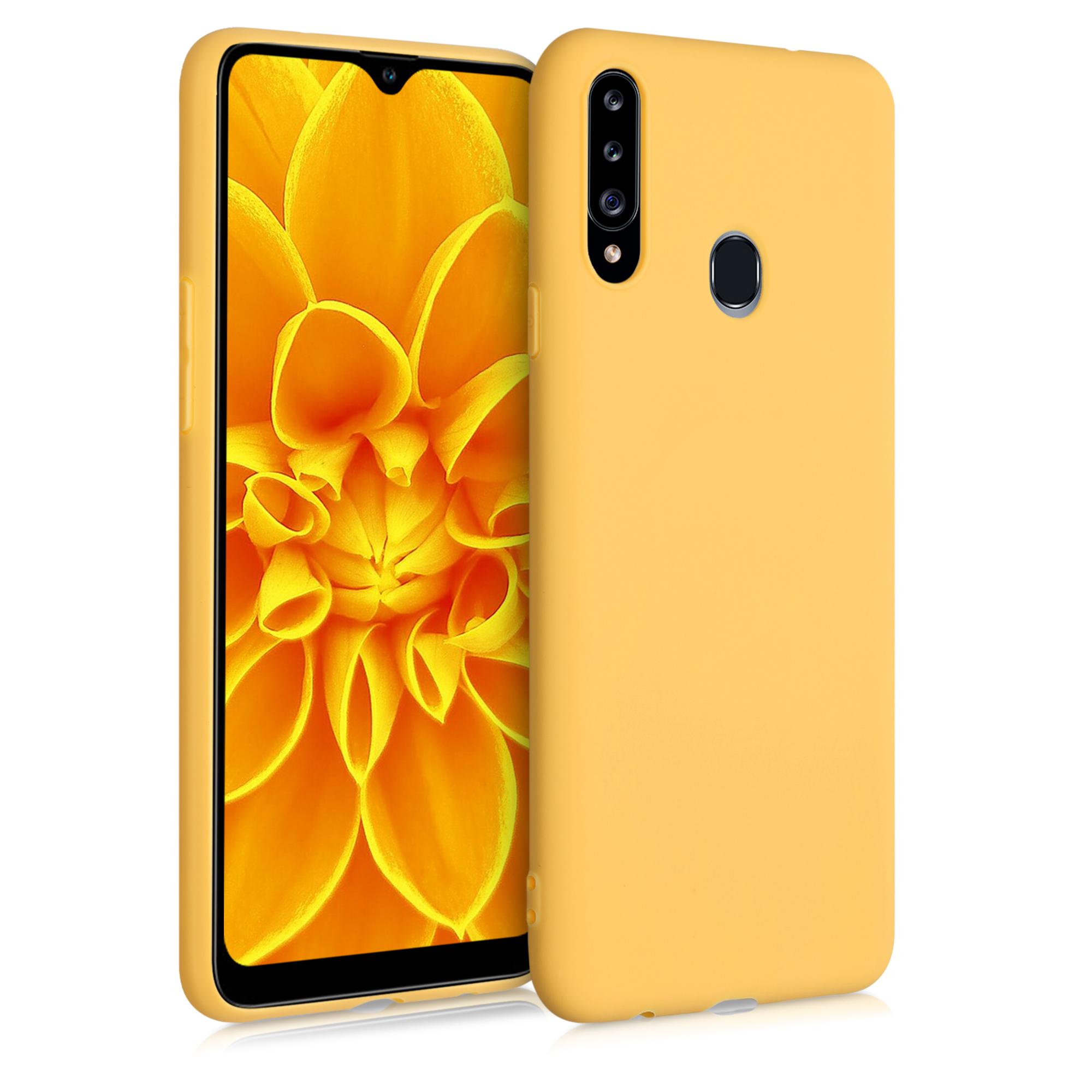 Kvalitní silikonové TPU pouzdro pro Samsung A20s - Saffron Yellow