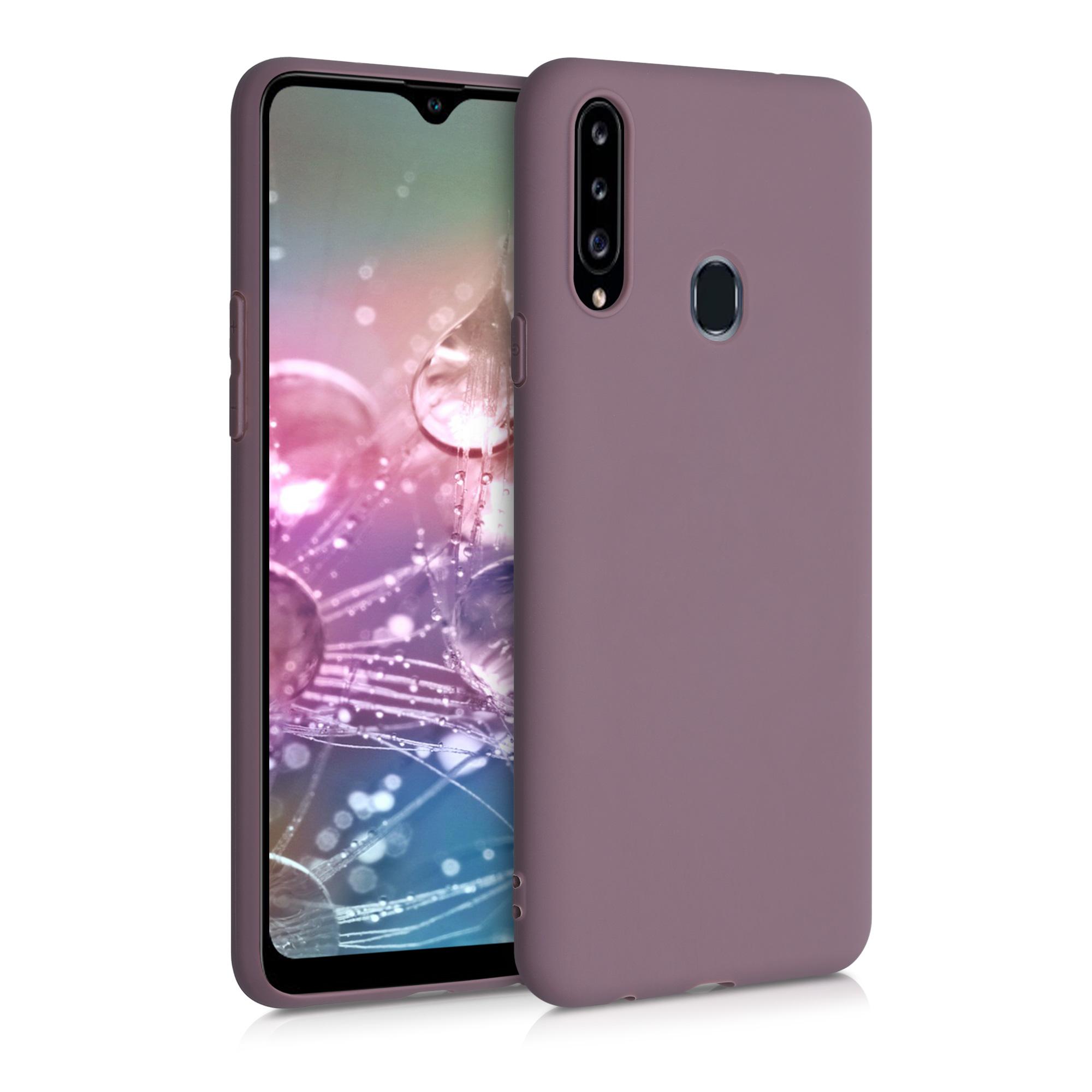 Kvalitní silikonové TPU pouzdro pro Samsung A20s - Grape Fialová