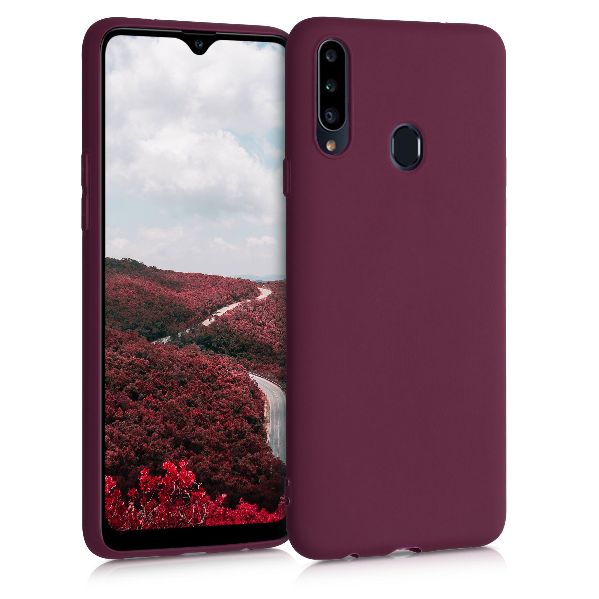 Kvalitní silikonové TPU pouzdro pro Samsung A20s - Bordeaux fialové