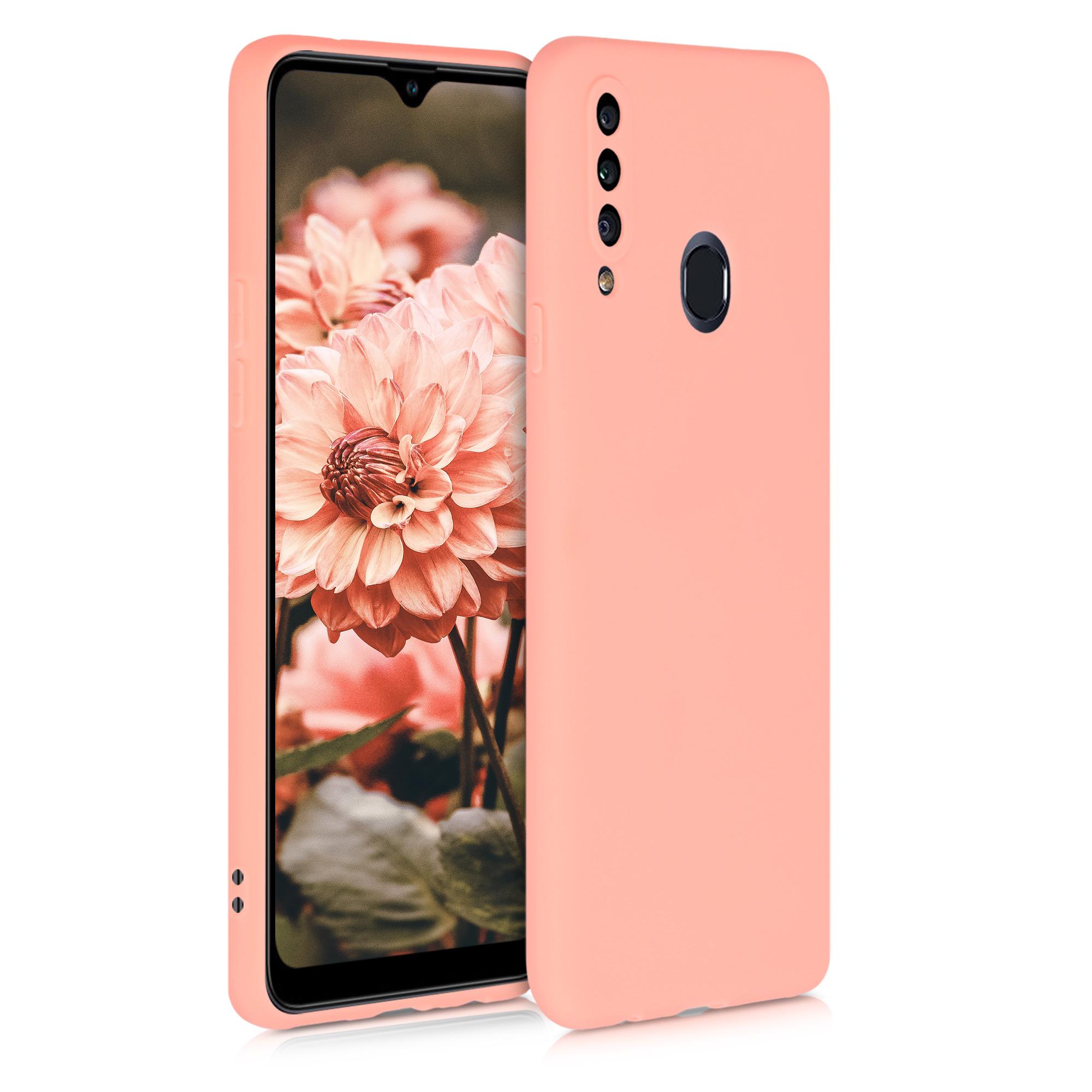 Kvalitní silikonové TPU pouzdro pro Samsung A20s - grapefruit Růžový
