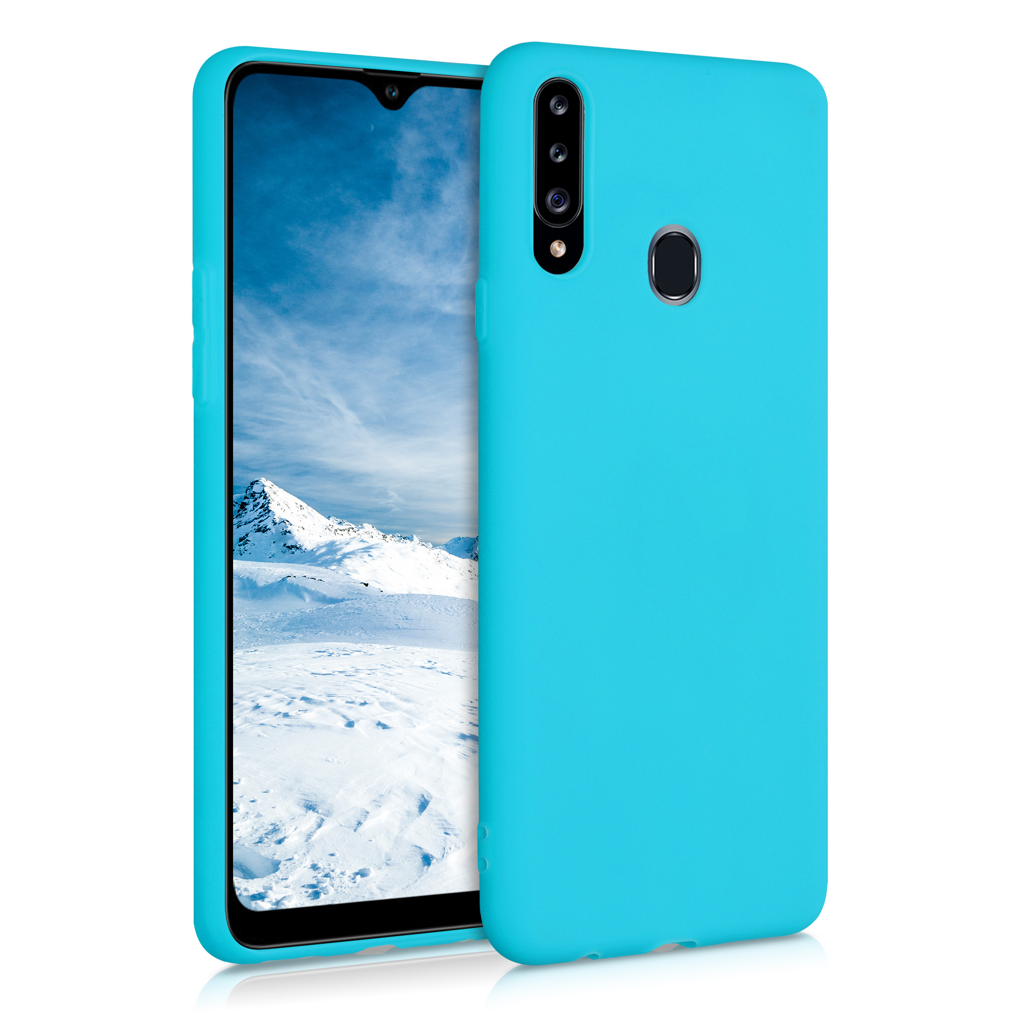 Kvalitní silikonové TPU pouzdro pro Samsung A20s - Ledová modř