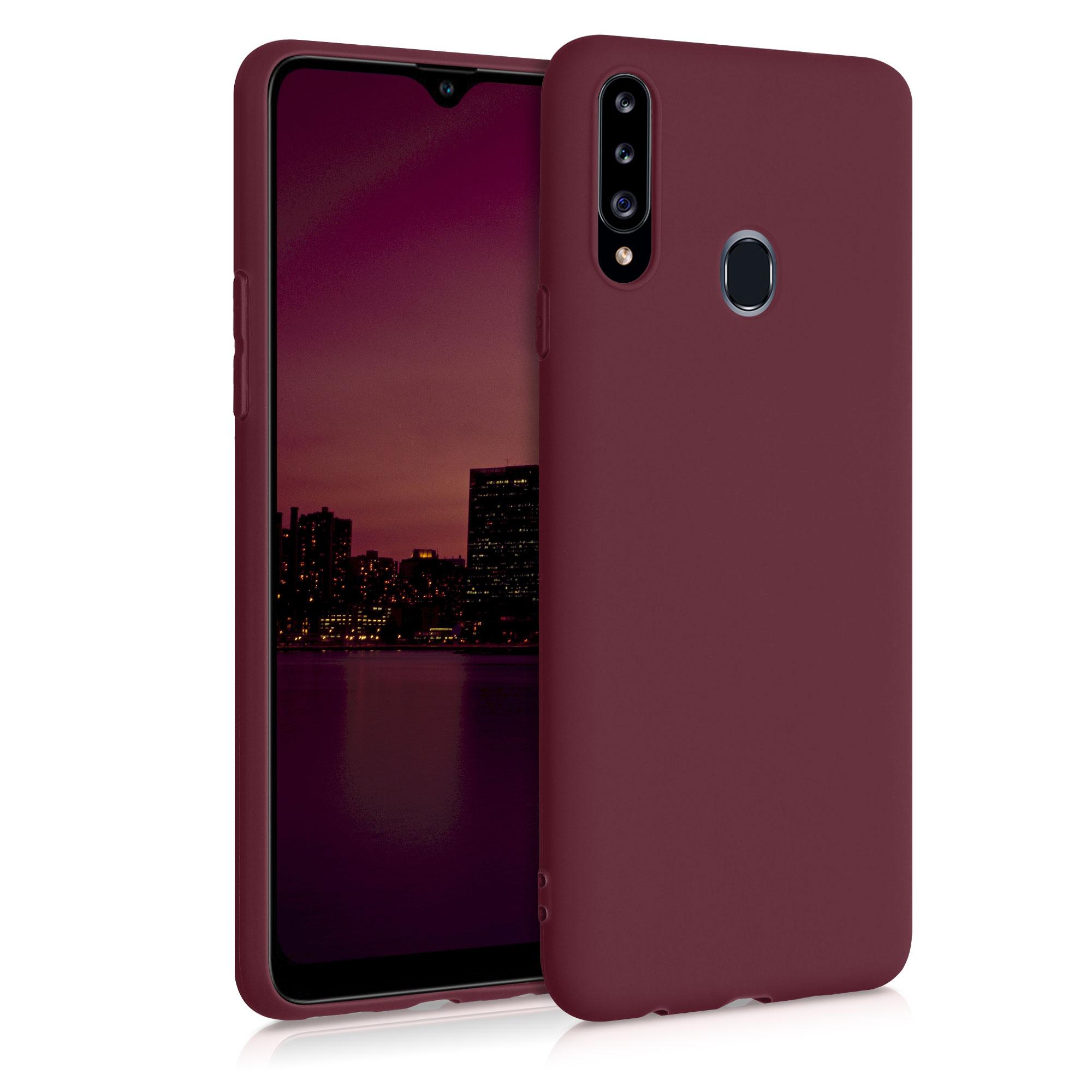 Kvalitní silikonové TPU pouzdro pro Samsung A20s - rebarbora červené