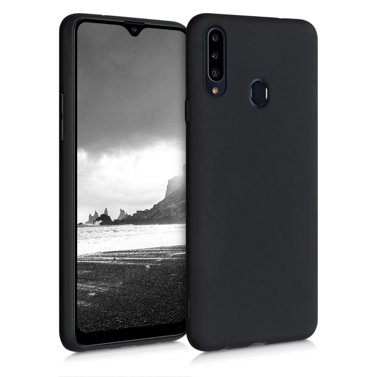 Kvalitní silikonové TPU pouzdro pro Samsung A20s - Black Matte
