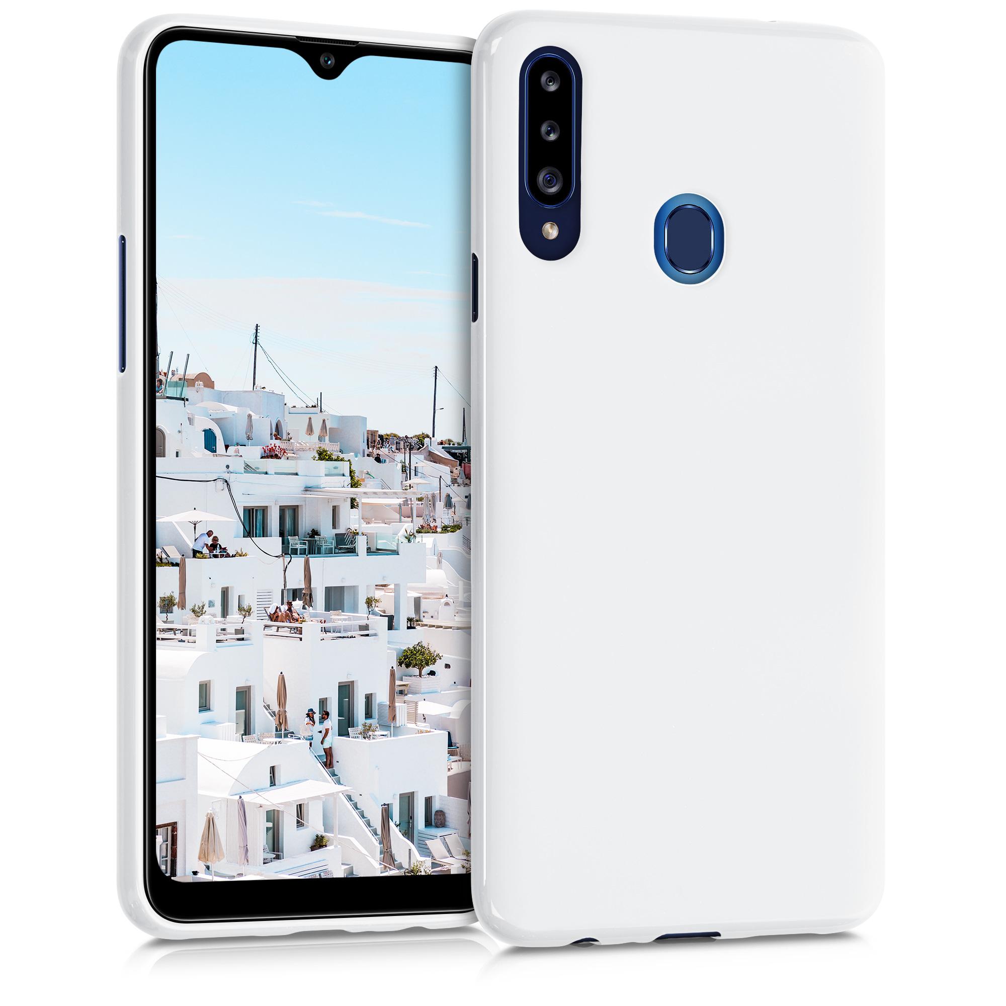 Kvalitní silikonové TPU pouzdro pro Samsung A20s - White Matte