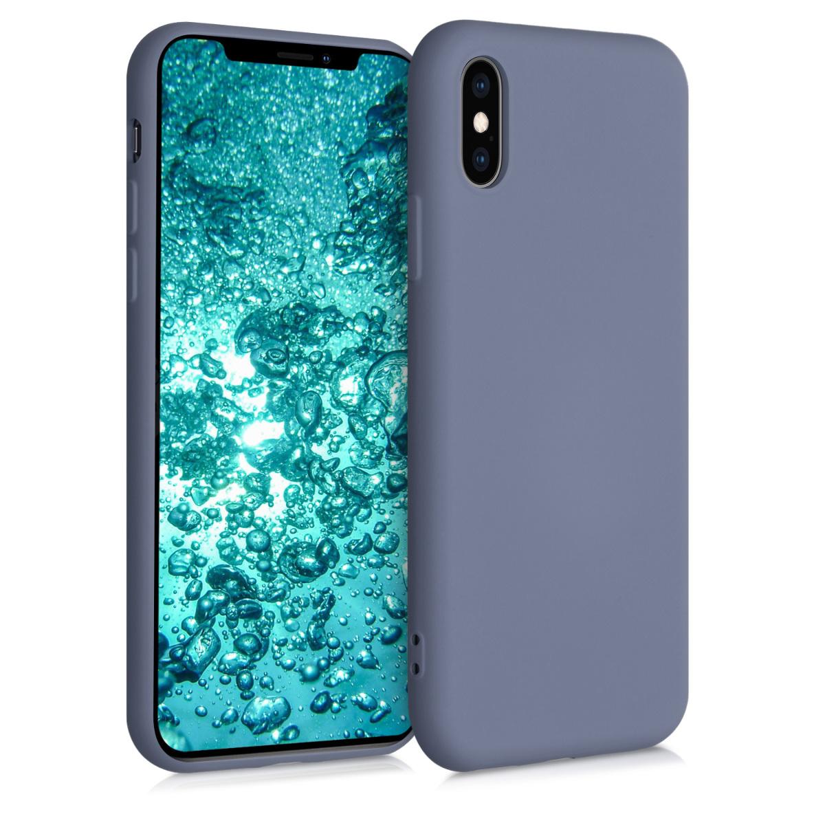 Kvalitní silikonové TPU pouzdro pro Apple iPhone XS - modrá Šedá
