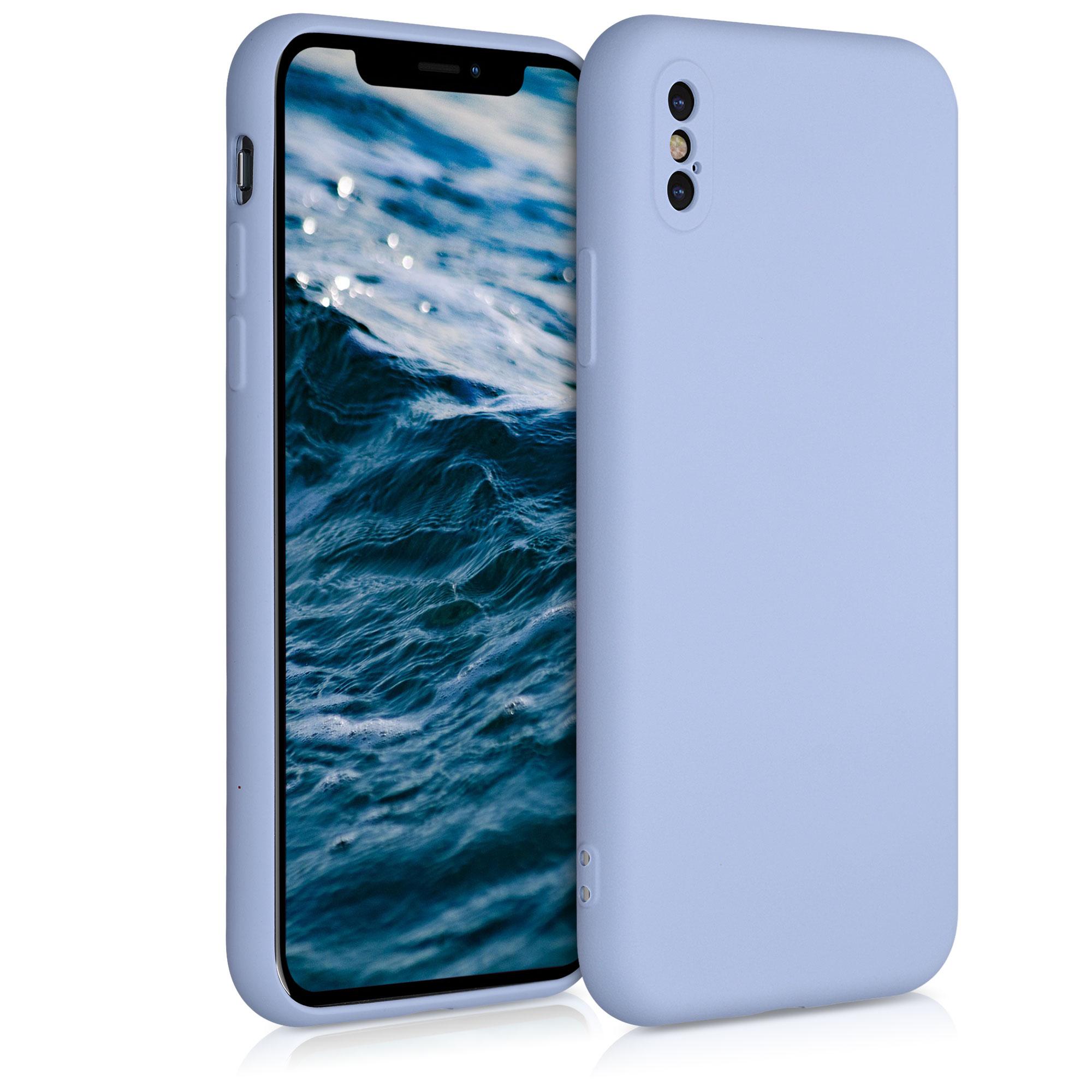 Kvalitní silikonové TPU pouzdro pro Apple iPhone XS - Light Blue Matte