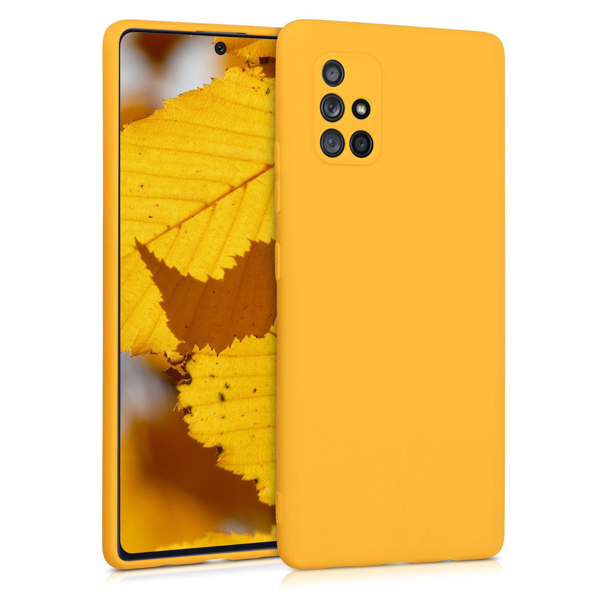 Kvalitní silikonové TPU pouzdro pro Samsung A71 5G - Honey Yellow