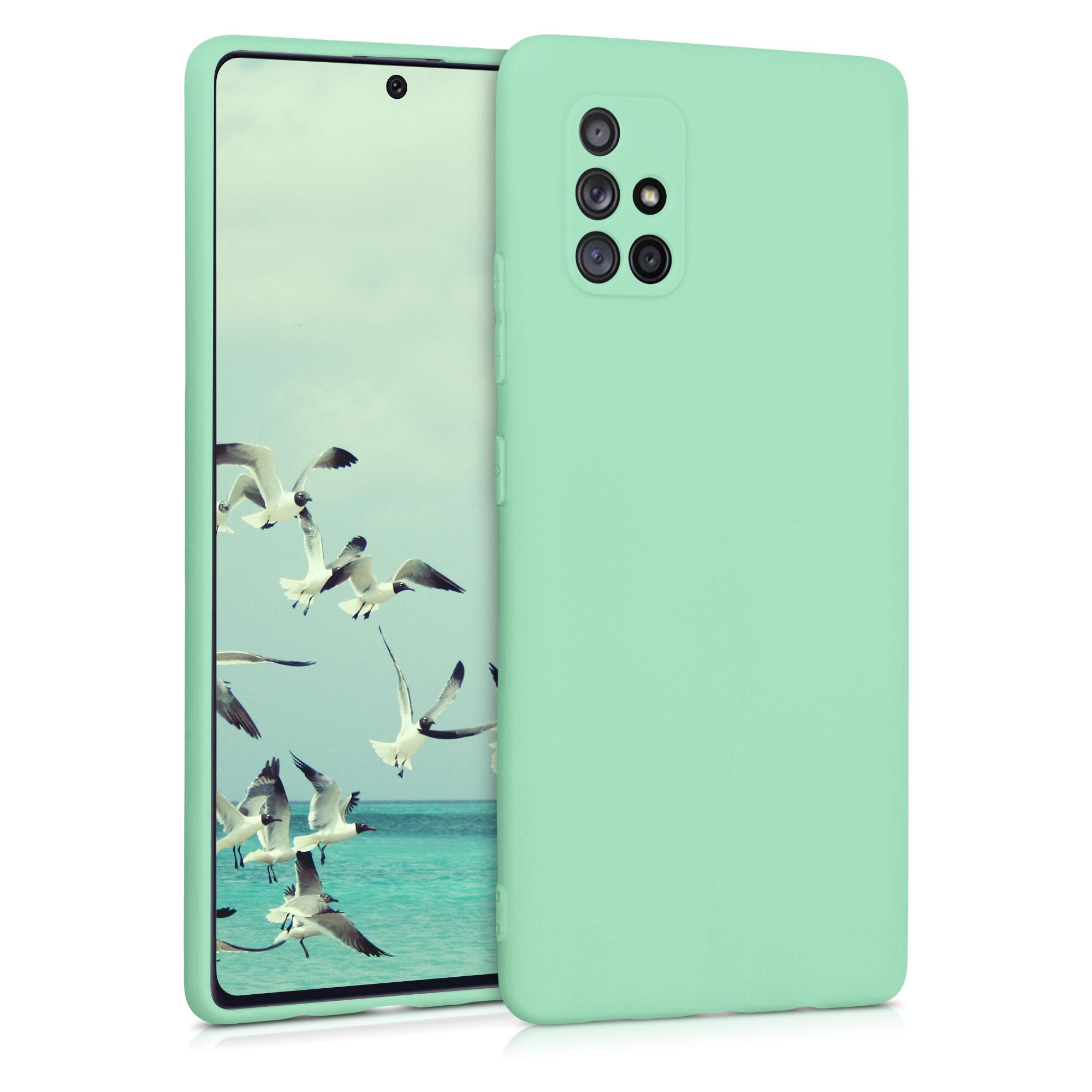 Kvalitní silikonové TPU pouzdro pro Samsung A71 5G - pastel Green