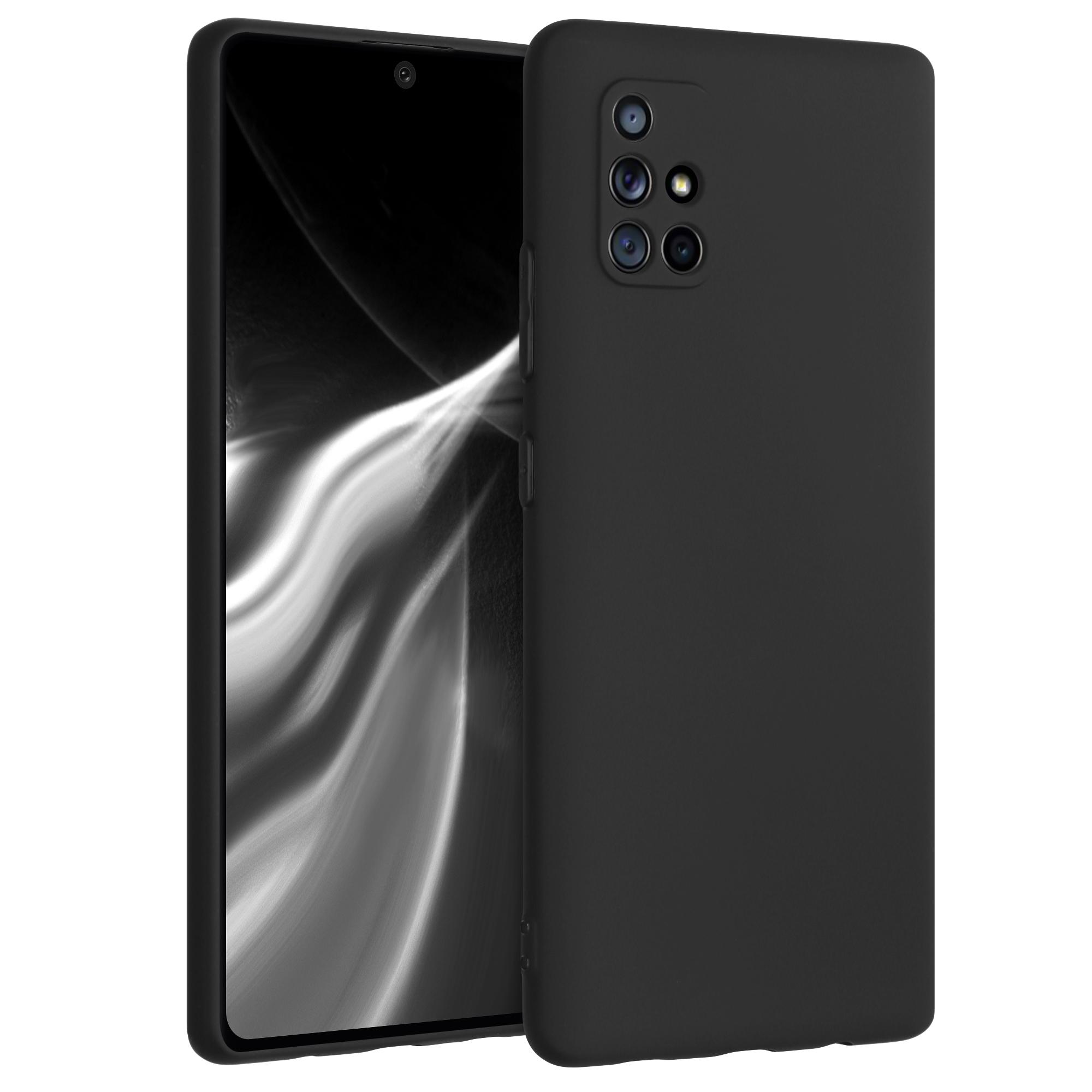 Kvalitní silikonové TPU pouzdro pro Samsung A71 5G - černé matné