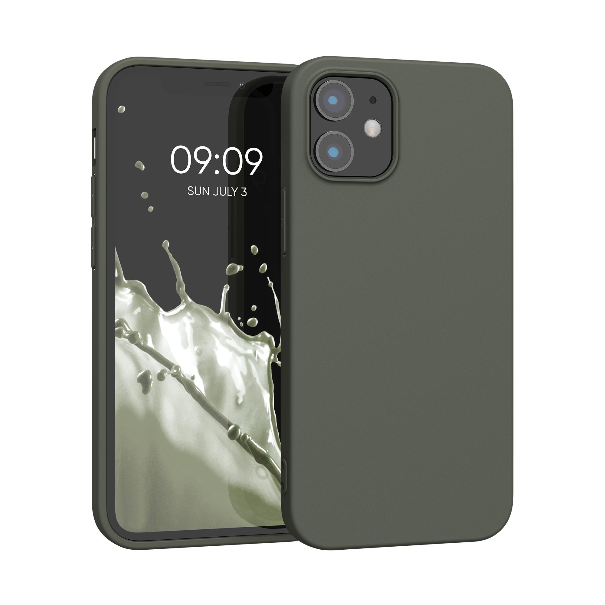 AKCE! Kvalitní silikonové TPU pouzdro pro Apple iPhone 12 mini - Olive Green