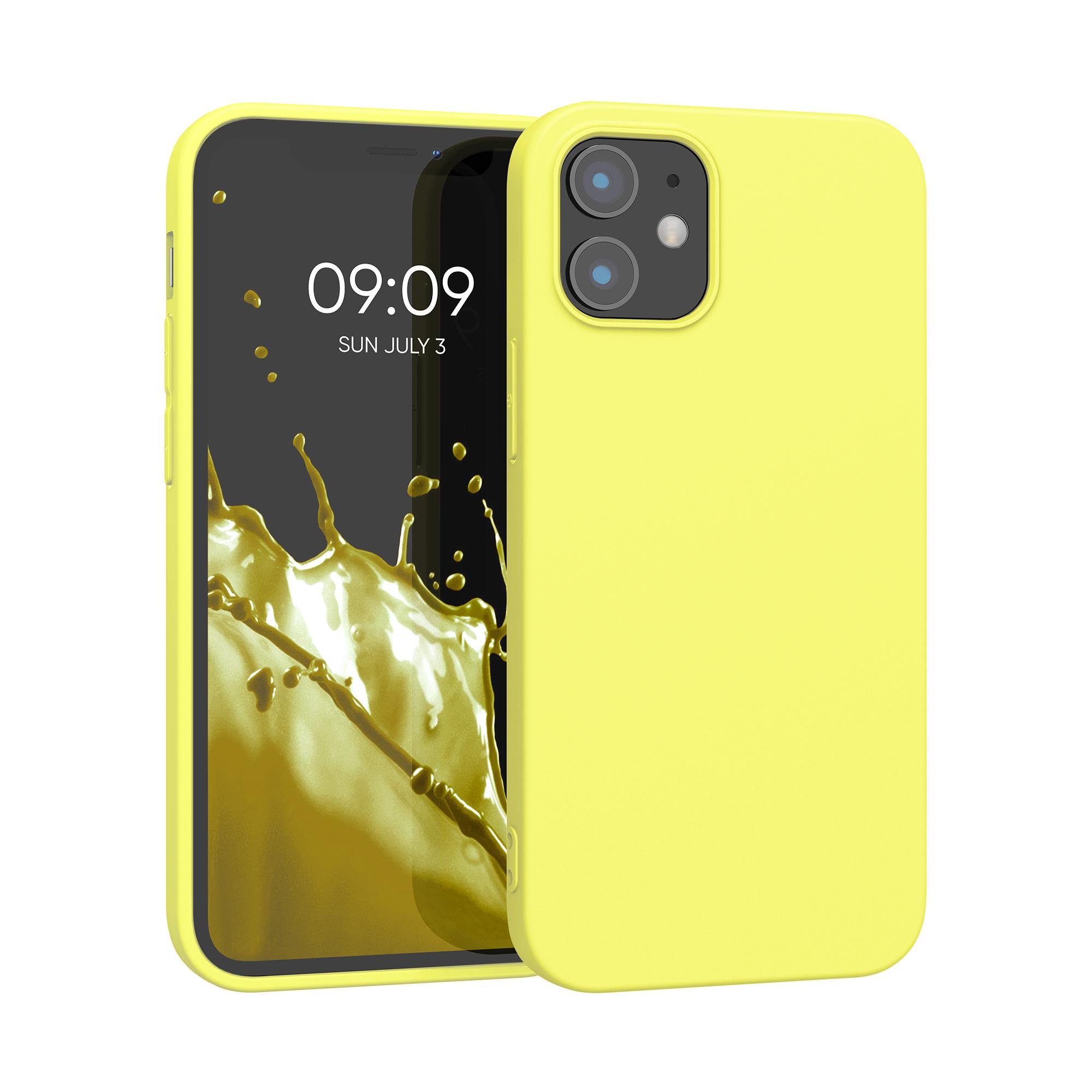 Kvalitní silikonové TPU pouzdro pro Apple iPhone 12 mini - Pastel Yellow Matte