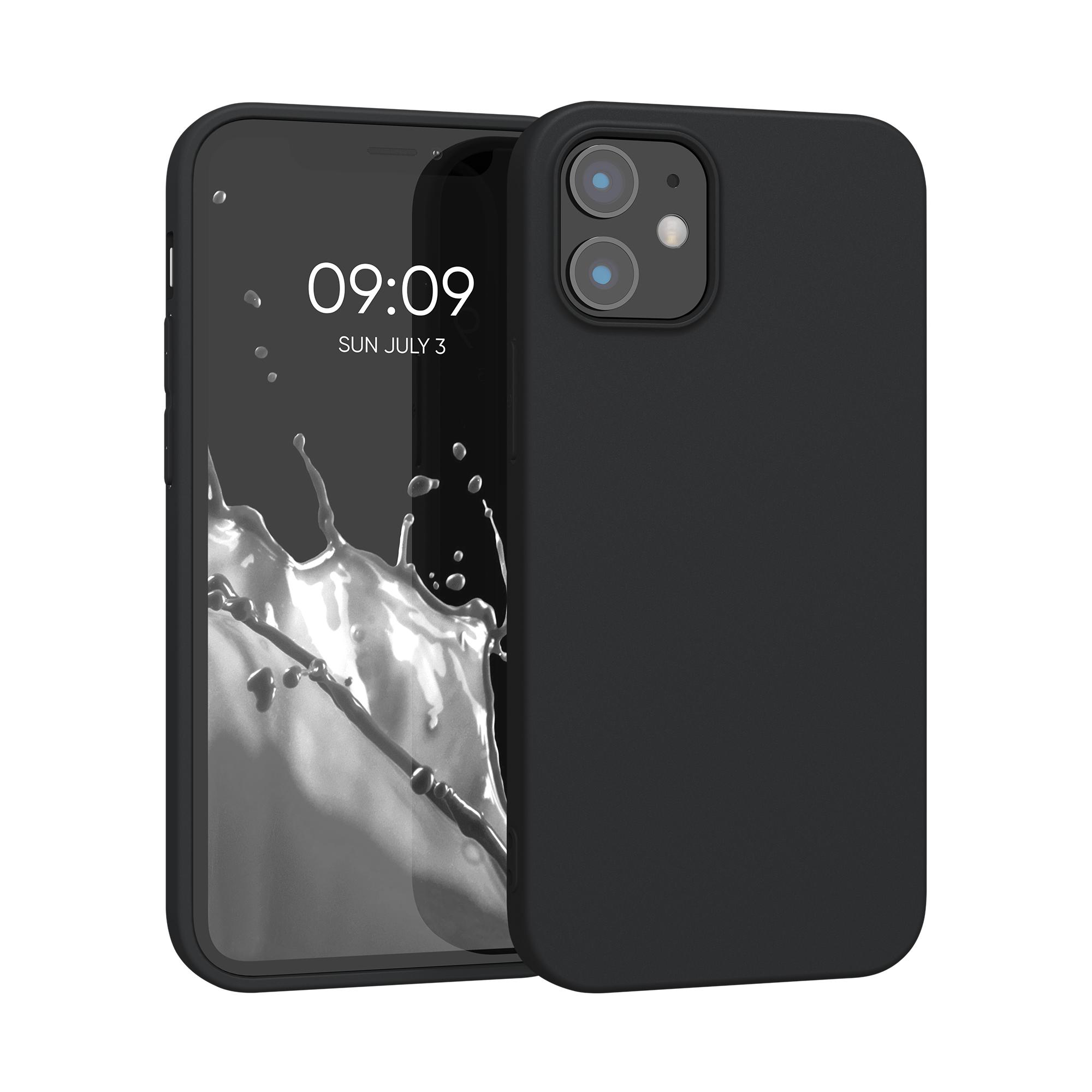 Kvalitní silikonové TPU pouzdro pro Apple iPhone 12 mini - Black Matte