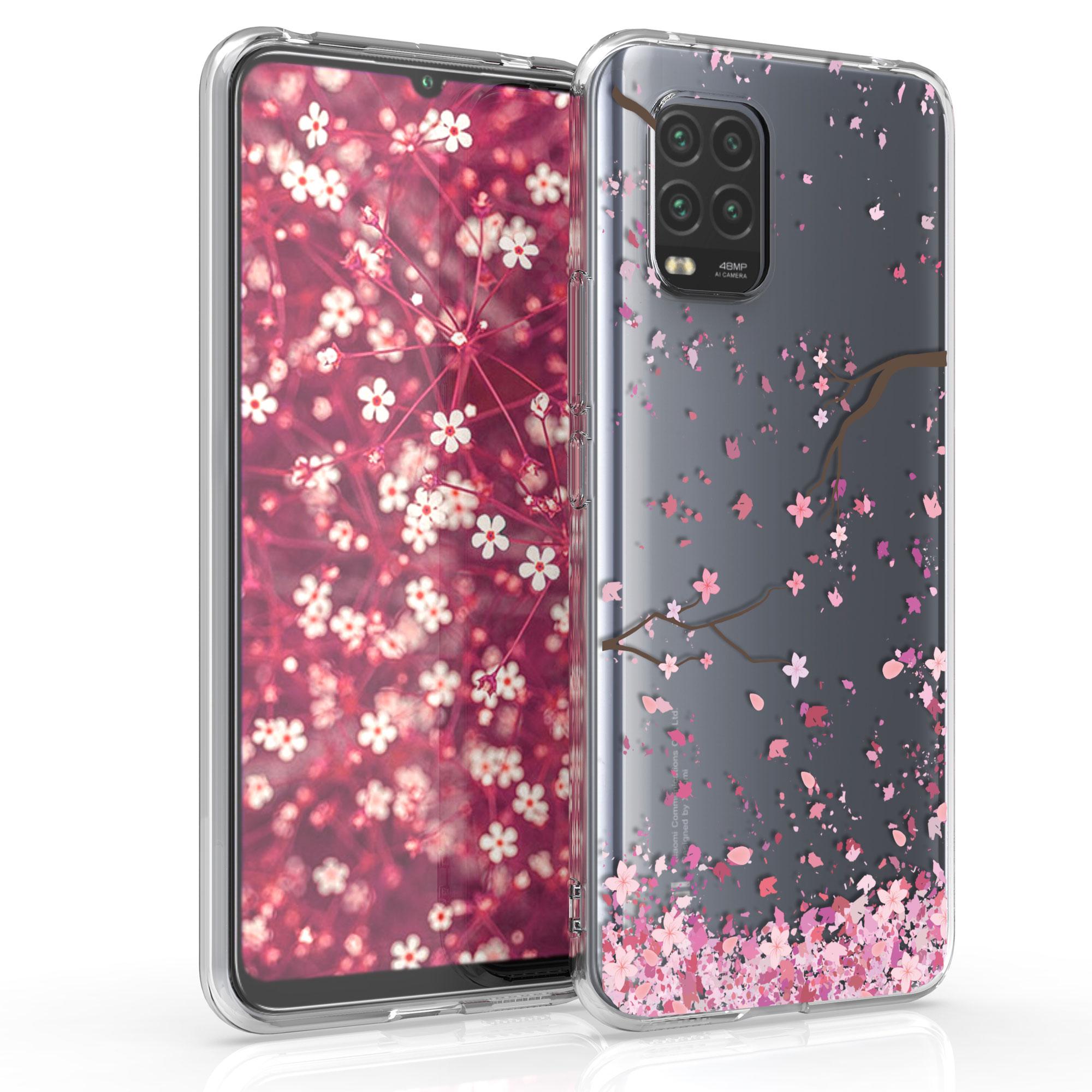 Průhledné pouzdro / obal s motivem třešňových květů pro Xiaomi Mi 10 Lite