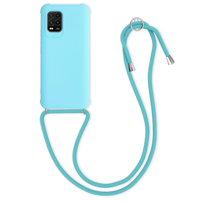Světlé modré silikonové pouzdro / obal na krk pro Xiaomi Mi 10 Lite