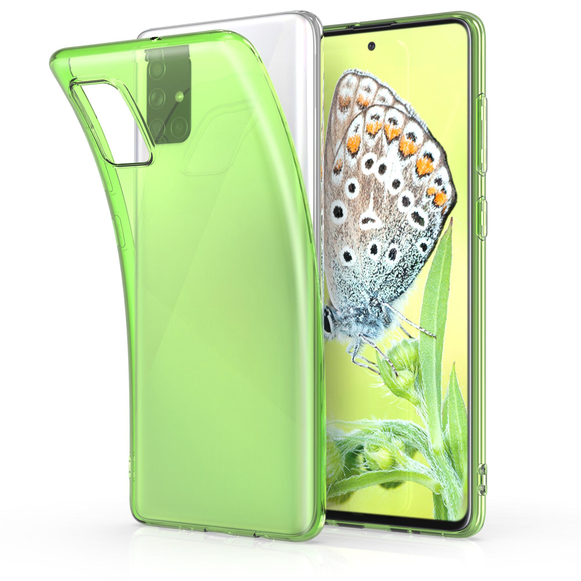 Neonově zelené silikonové pouzdro / obal pro Samsung Galaxy A51