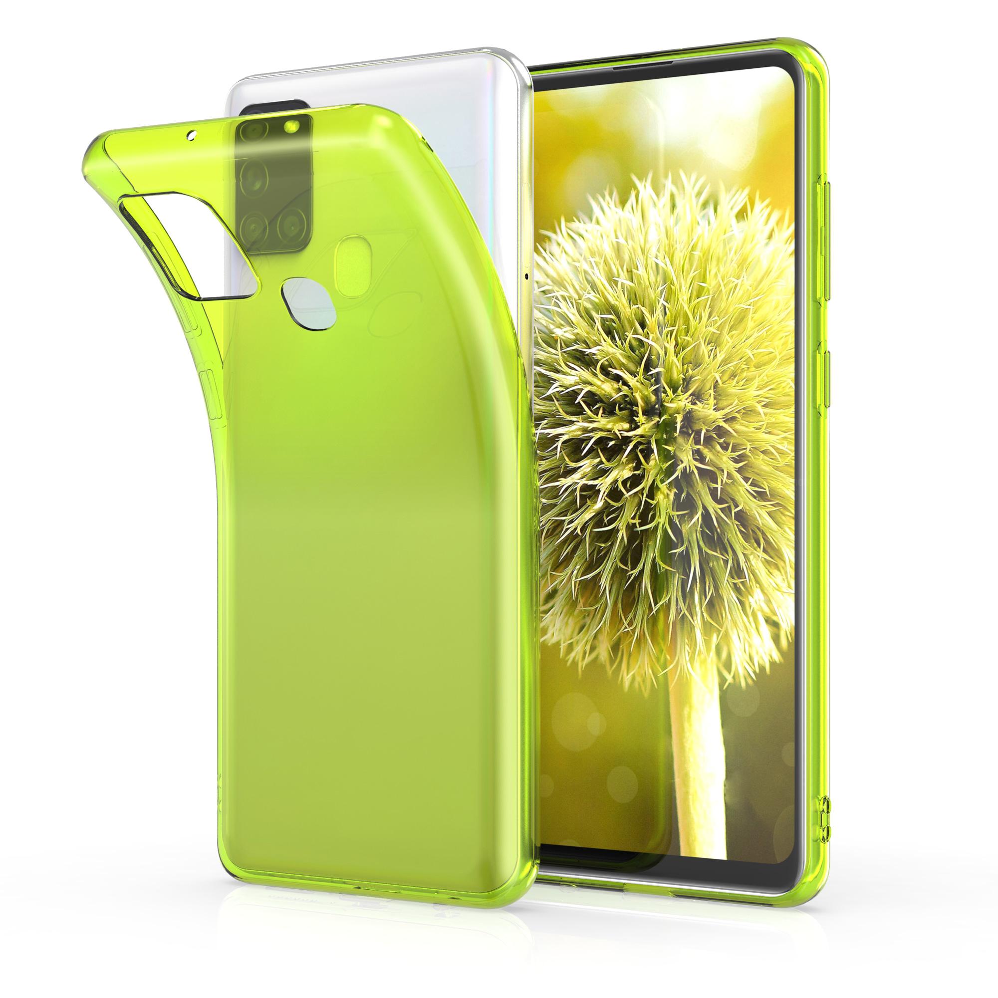 Kvalitní silikonové TPU pouzdro pro Samsung A21s - neonově žluté