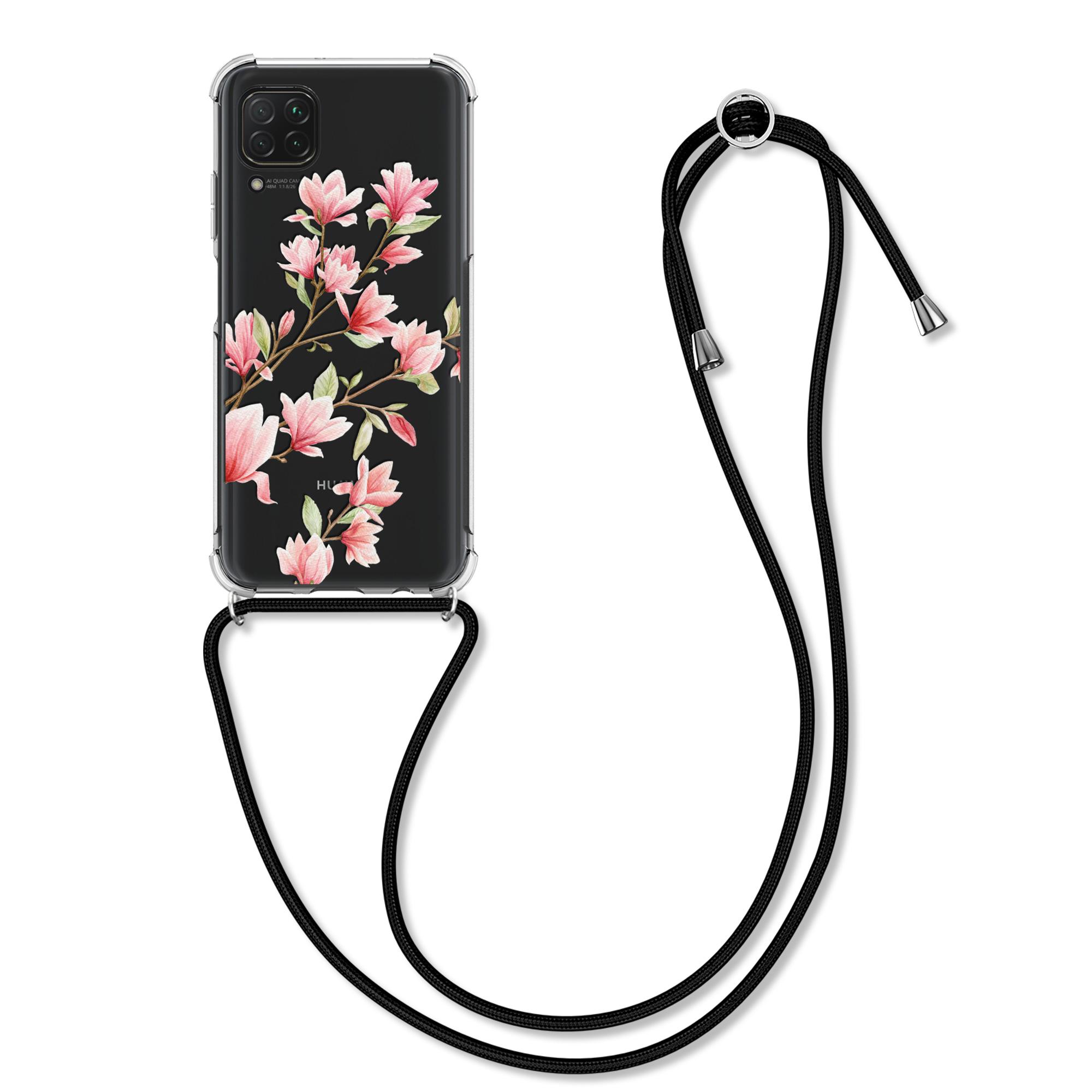 Silikonové pouzdro / obal na krk pro Huawei P40 Lite s motivem květiny magnolie