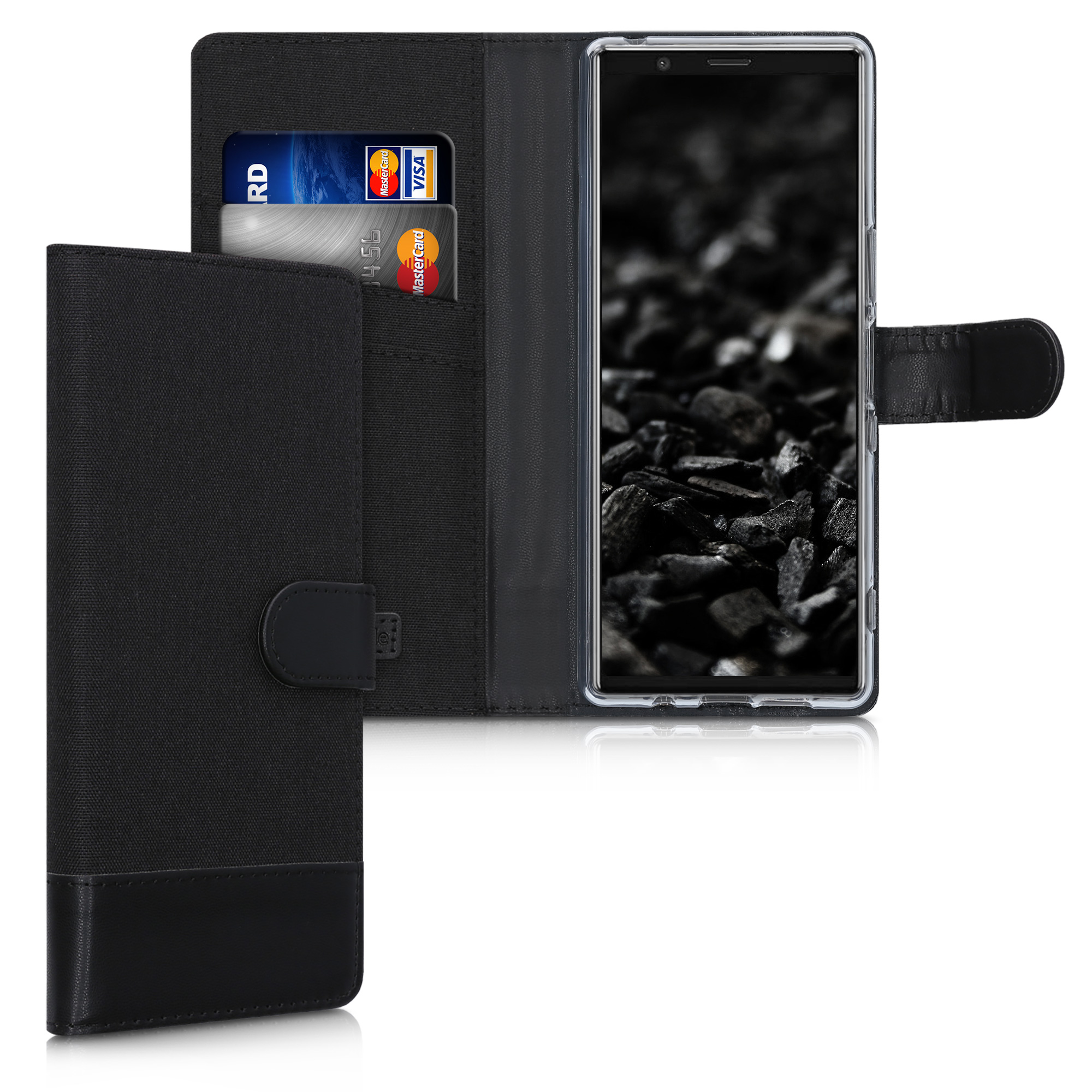Textilní látkové pouzdro | obal pro Sony Xperia 5 - Anthracite / černé