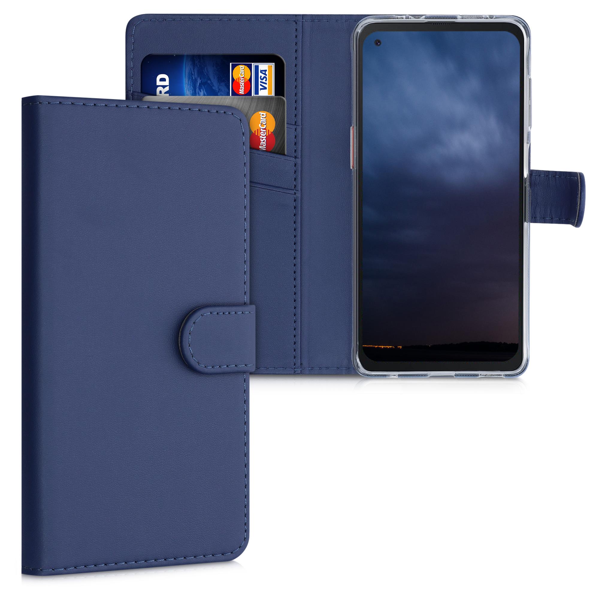 Kožené pouzdro pro Samsung Xcover Pro - Tmavě modrá