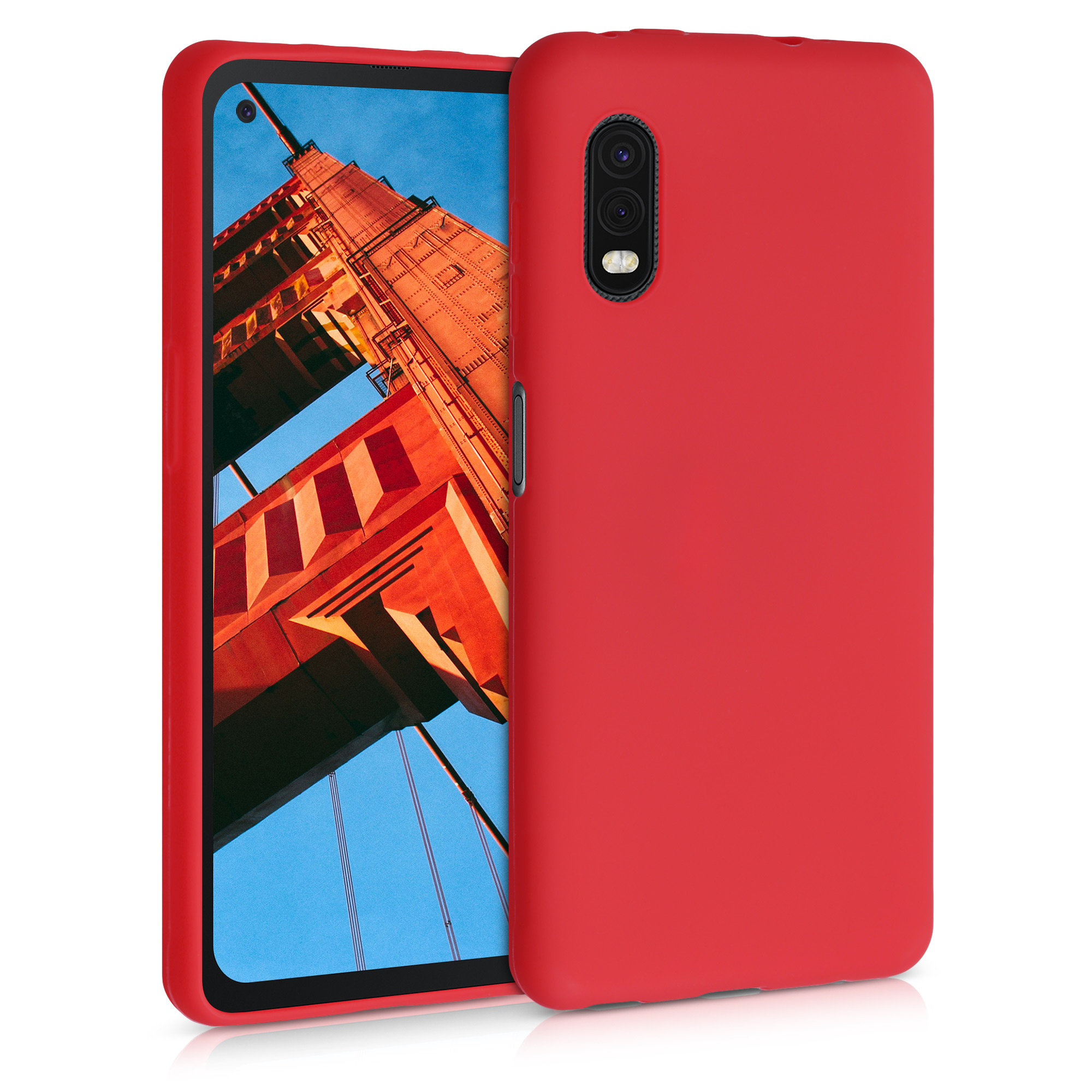 Kvalitní silikonové TPU pouzdro pro Samsung Xcover Pro - červené matné