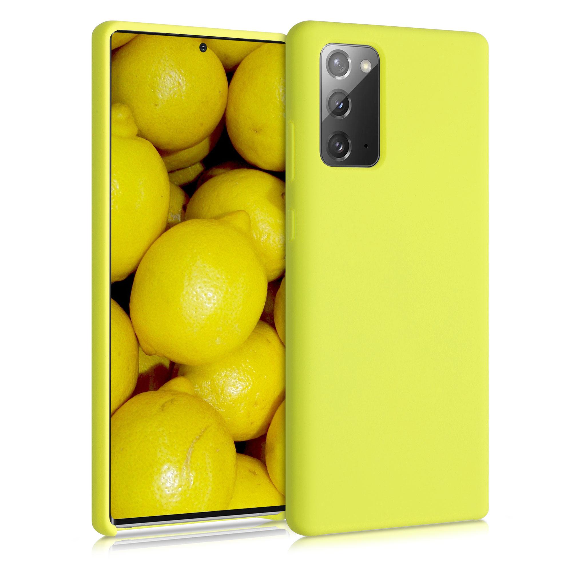 Kvalitní silikonové TPU pouzdro pro Samsung Note 20 - žluté matné