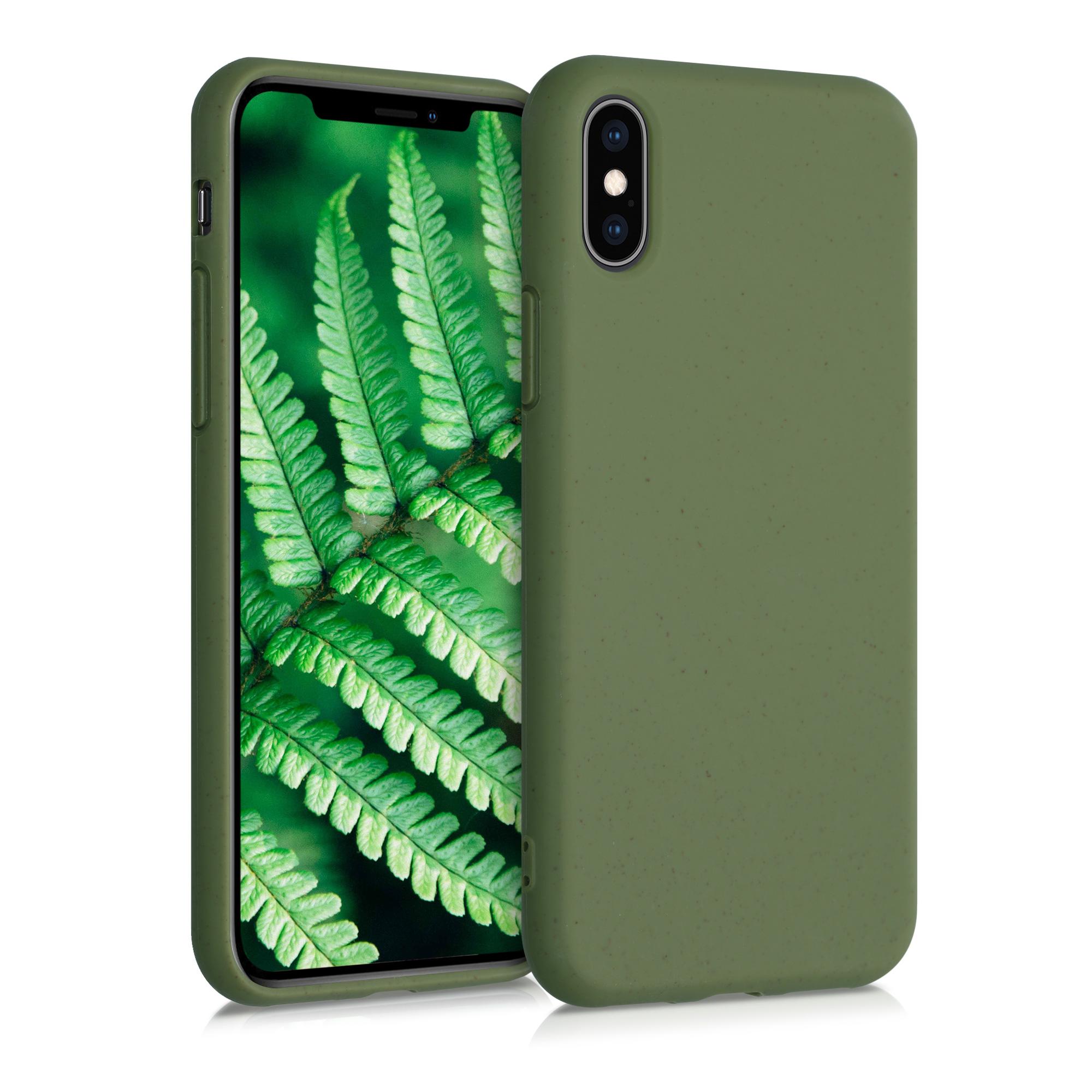 Kvalitní silikonové TPU pouzdro pro Apple iPhone XS - Olivově zelená
