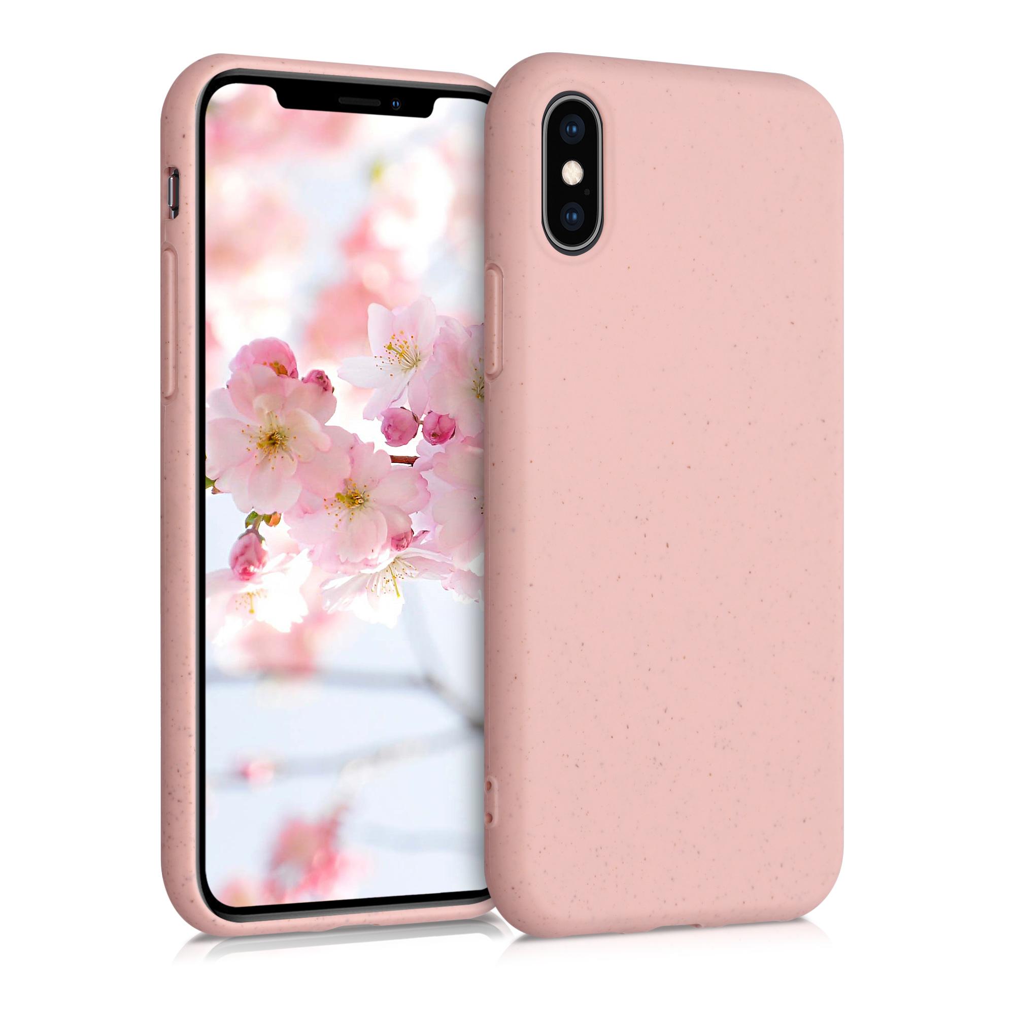 Kvalitní silikonové TPU pouzdro pro Apple iPhone XS - Dusty Pink