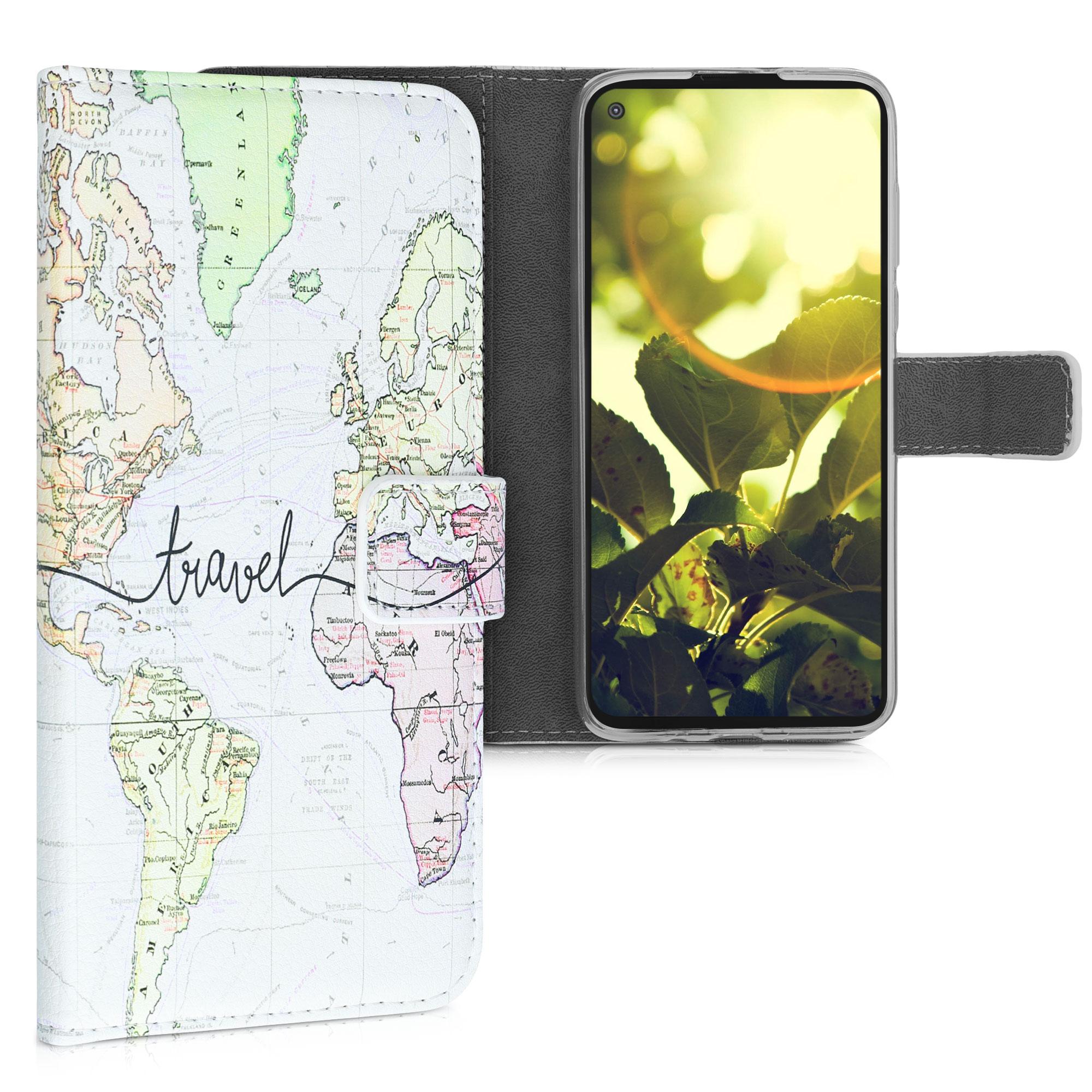 Kožené pouzdro | obal pro Motorola Moto G Power (US-Version) -  Cestovní černá / vícebarevná