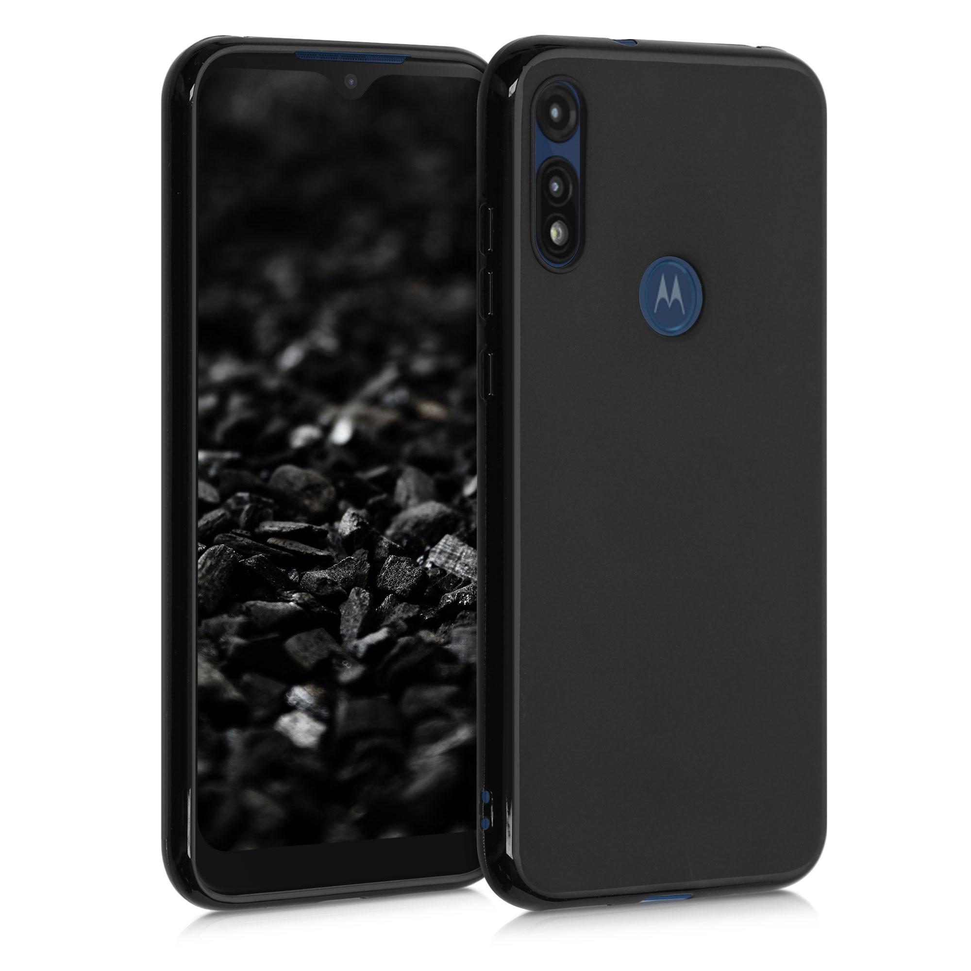 Kvalitní silikonové TPU pouzdro | obal pro Motorola Moto E (2020) -  Černá matná