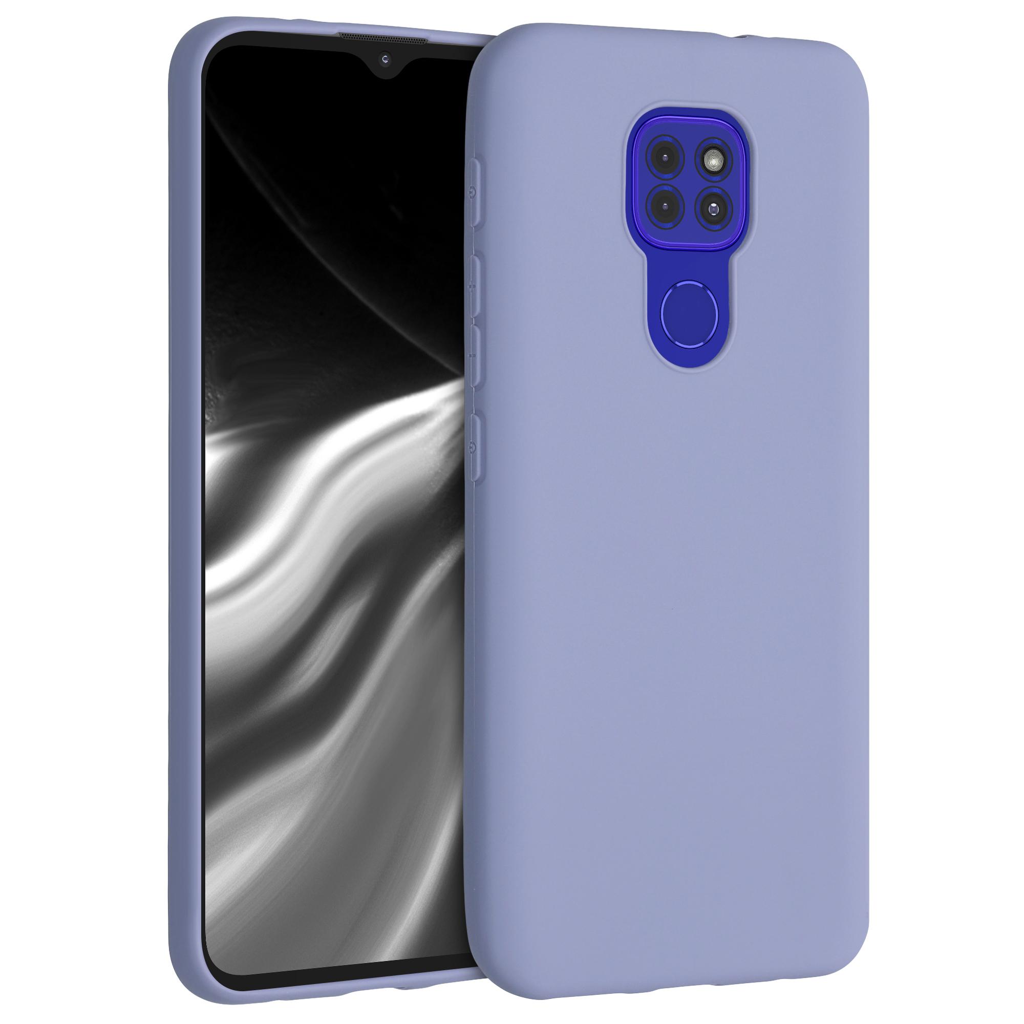 Kvalitní silikonové TPU pouzdro   obal pro Motorola Moto G9 Play / Moto E7 Plus -  Levandulově šedá