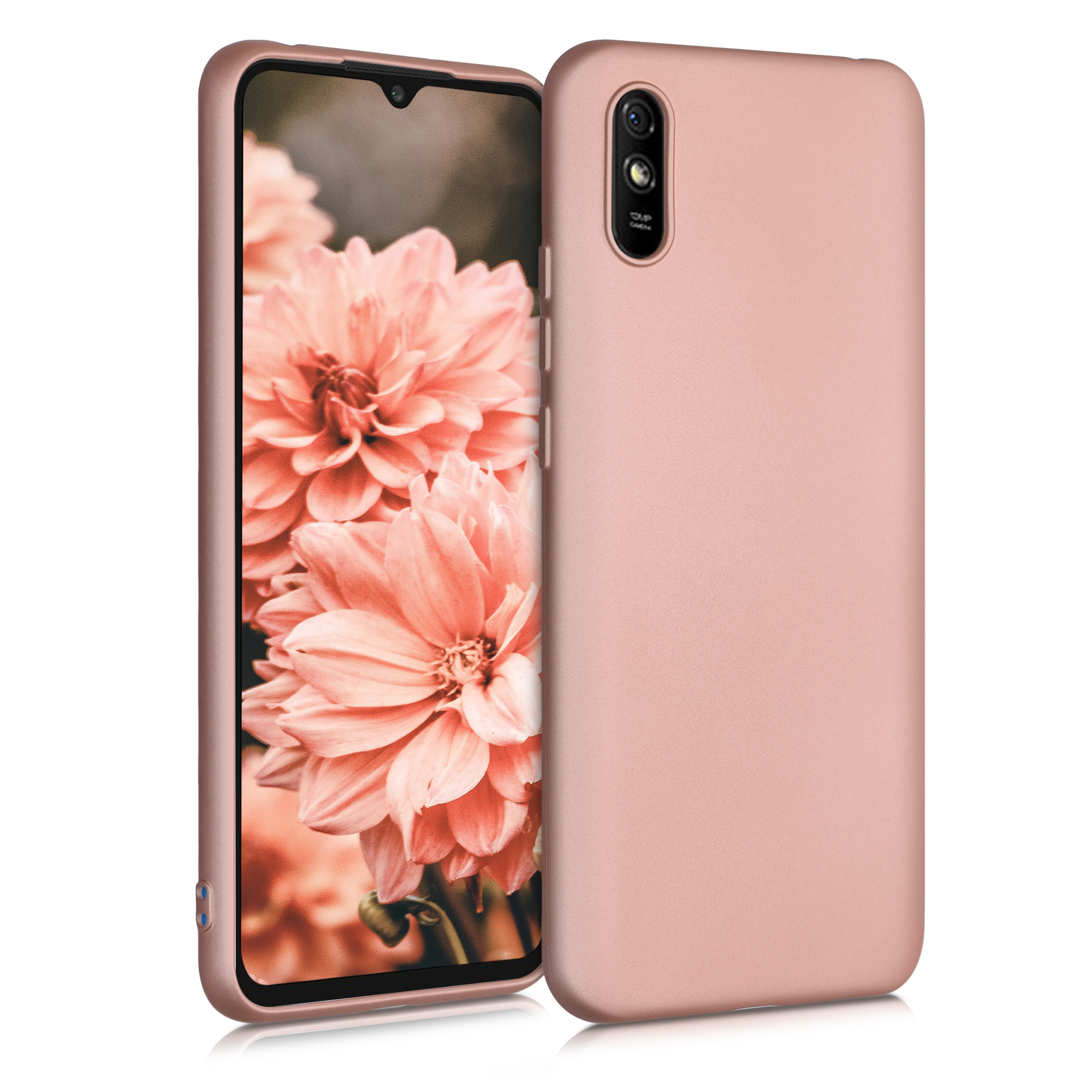 Kvalitní silikonové TPU pouzdro   obal pro Xiaomi Redmi 9A - metalické starorůžový růžovýgold