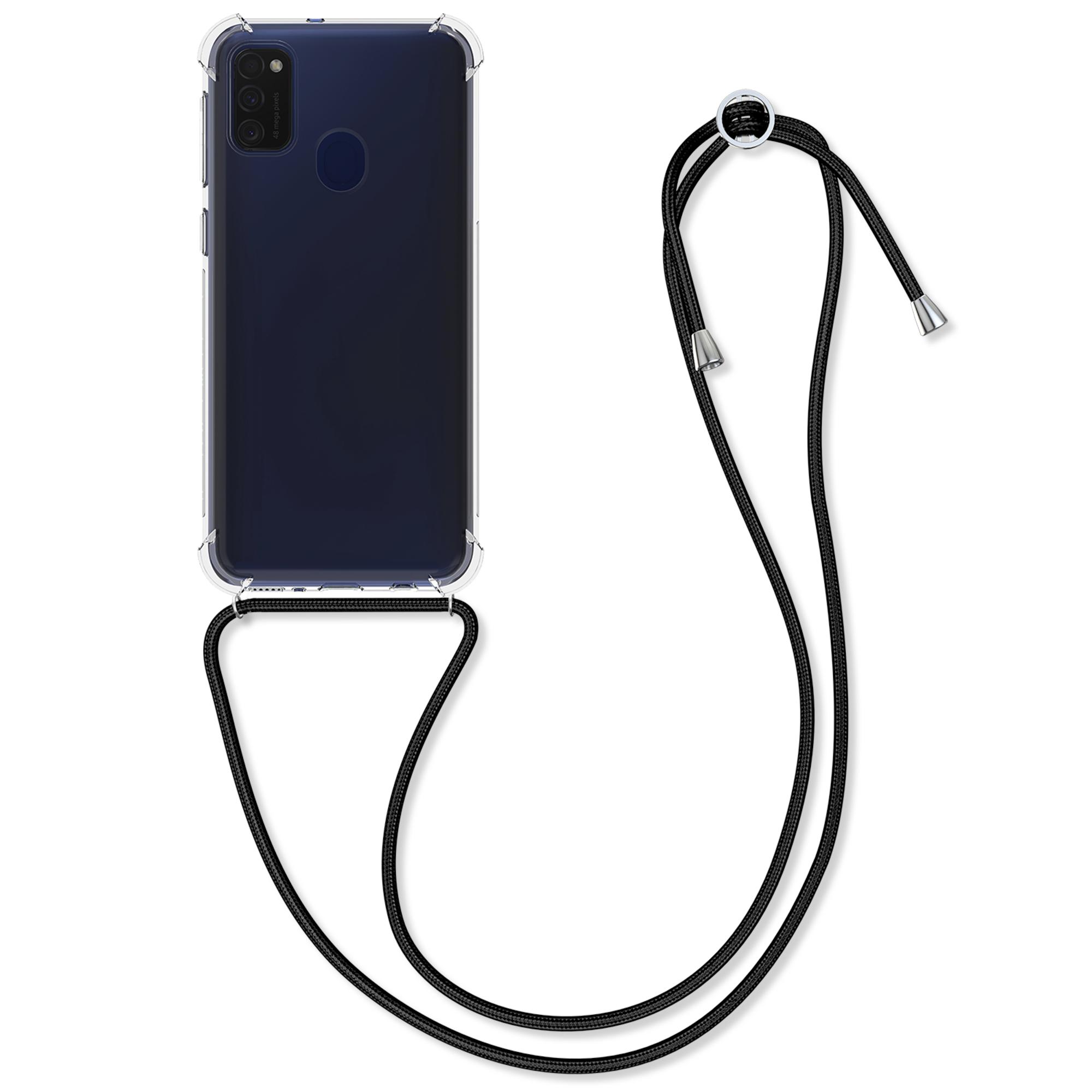 Kvalitní silikonové TPU pouzdro pro Samsung M21 - Black / Transparent
