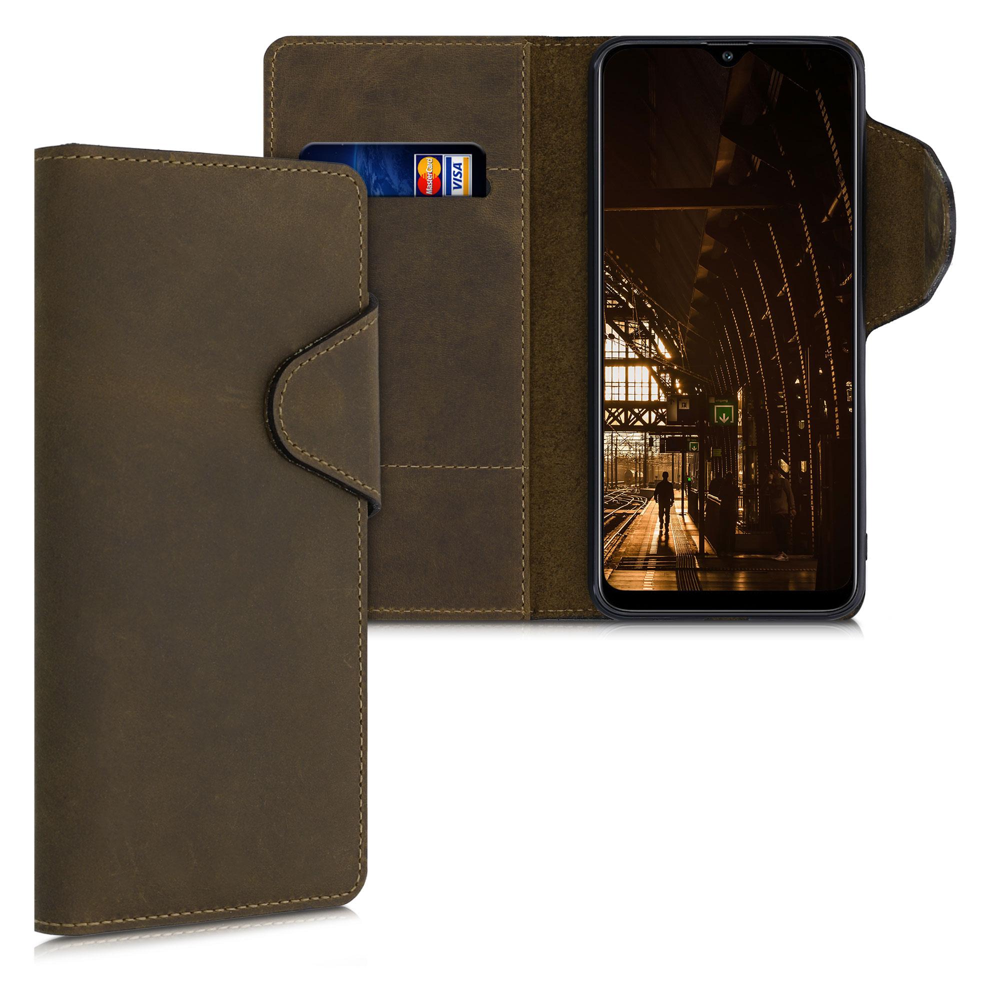 Kožené pouzdro pro Samsung A30s - Hnědý