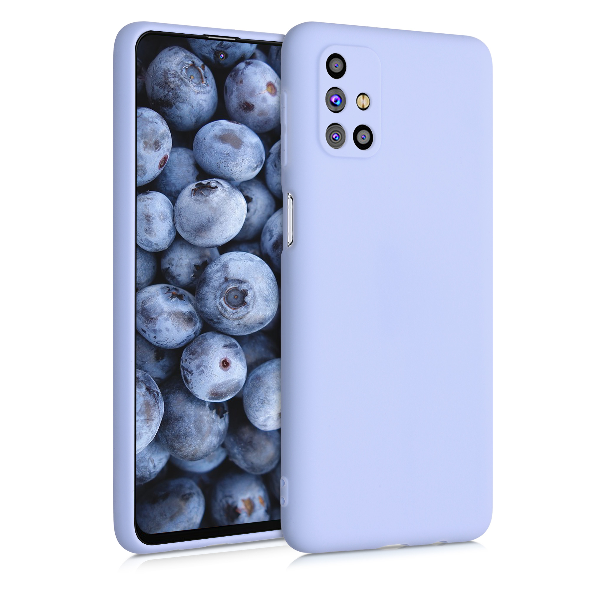 Kvalitní silikonové TPU pouzdro pro Samsung M31s - světle  levandulové fialové