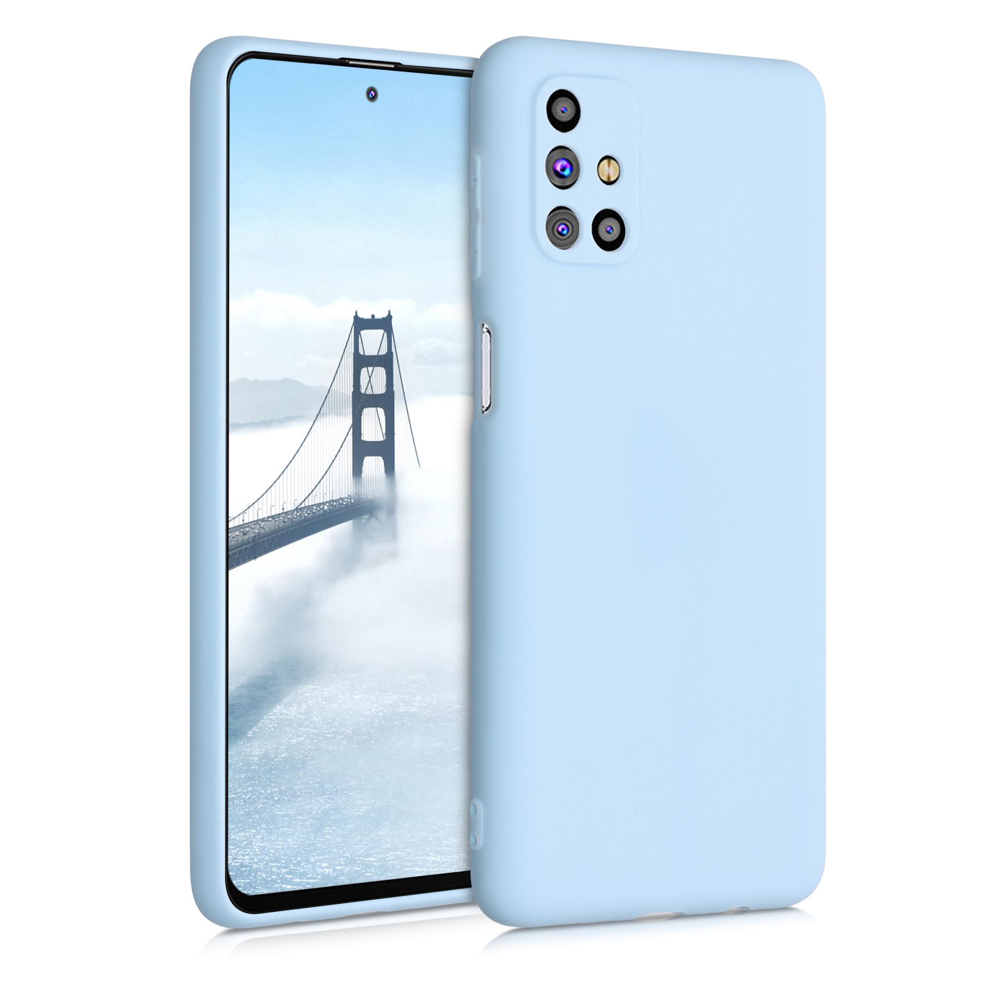 Kvalitní silikonové TPU pouzdro pro Samsung M31s - světle  modré matné