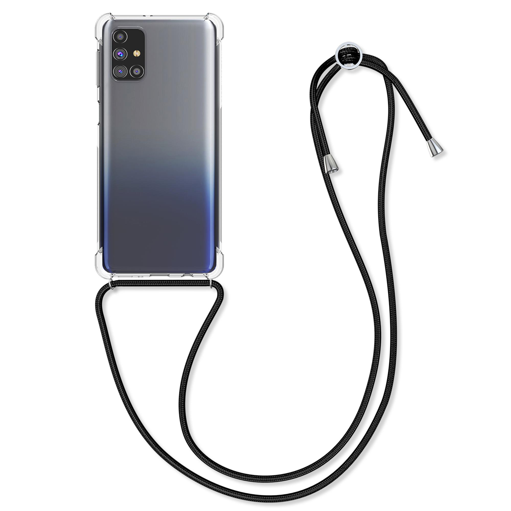 Kvalitní silikonové TPU pouzdro pro Samsung M31s - Black / Transparent