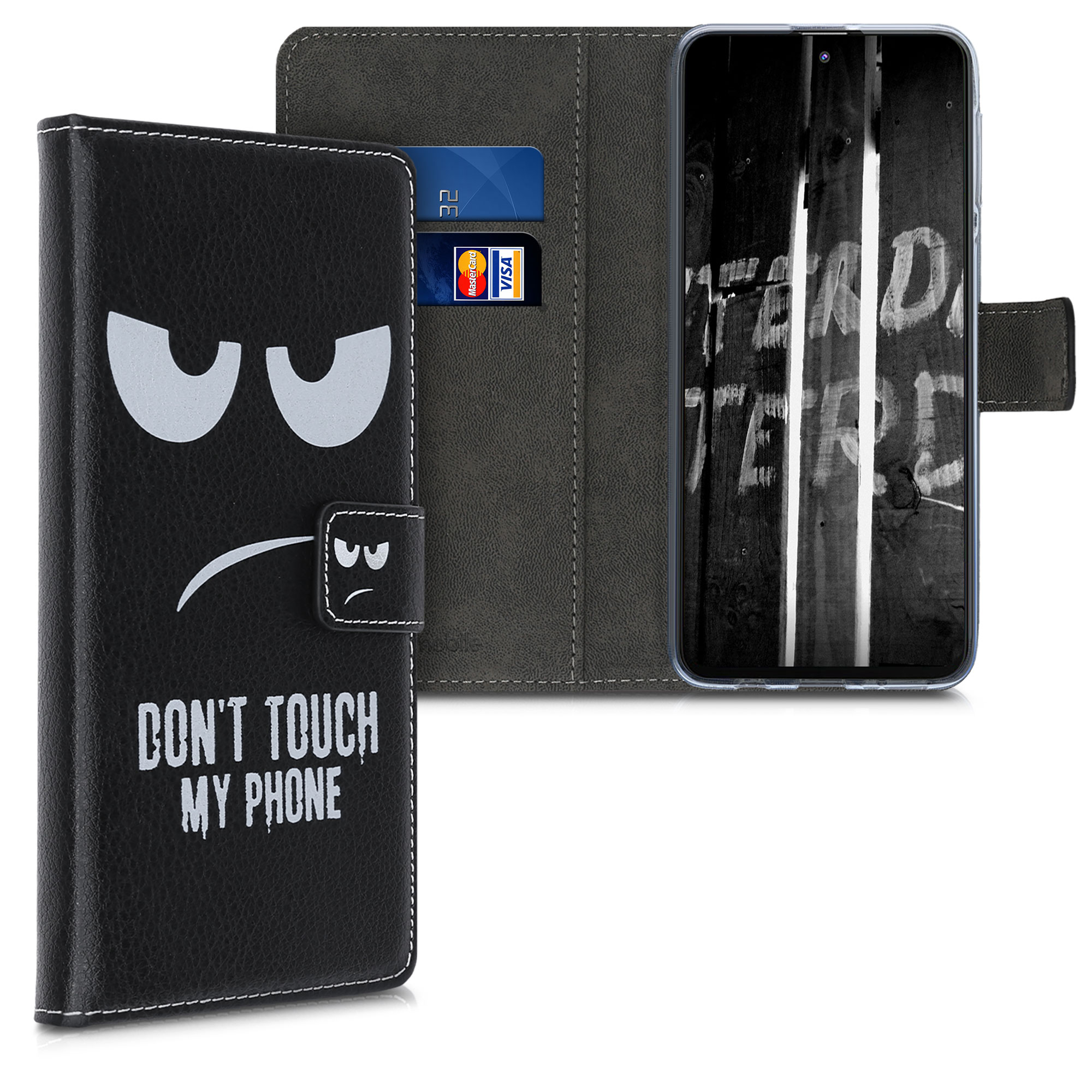 Kožené pouzdro pro Samsung M31s - Nedotýkejte My Phone White / Black