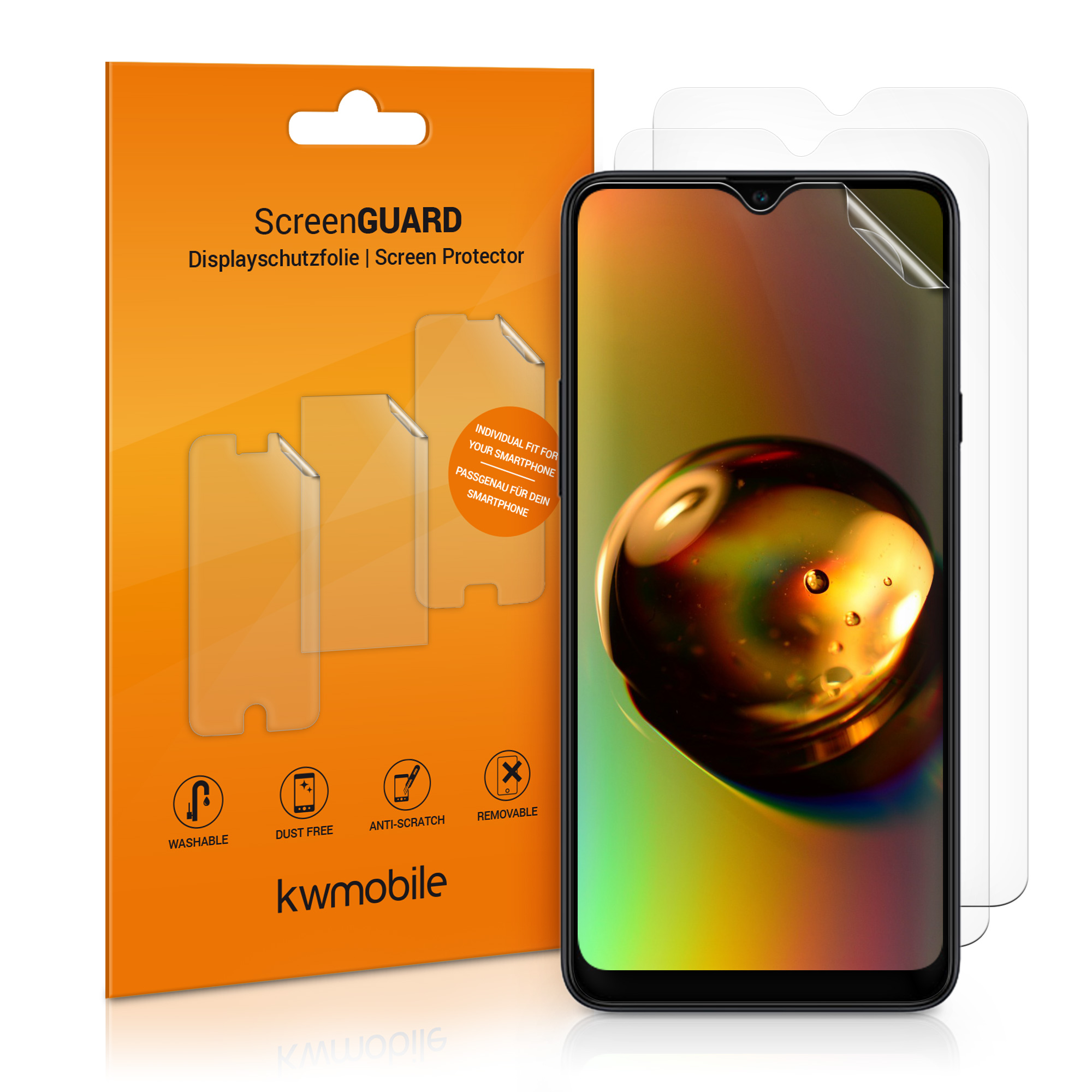 3x folie na display / screenprotector pro  Samsung Galaxy A20s